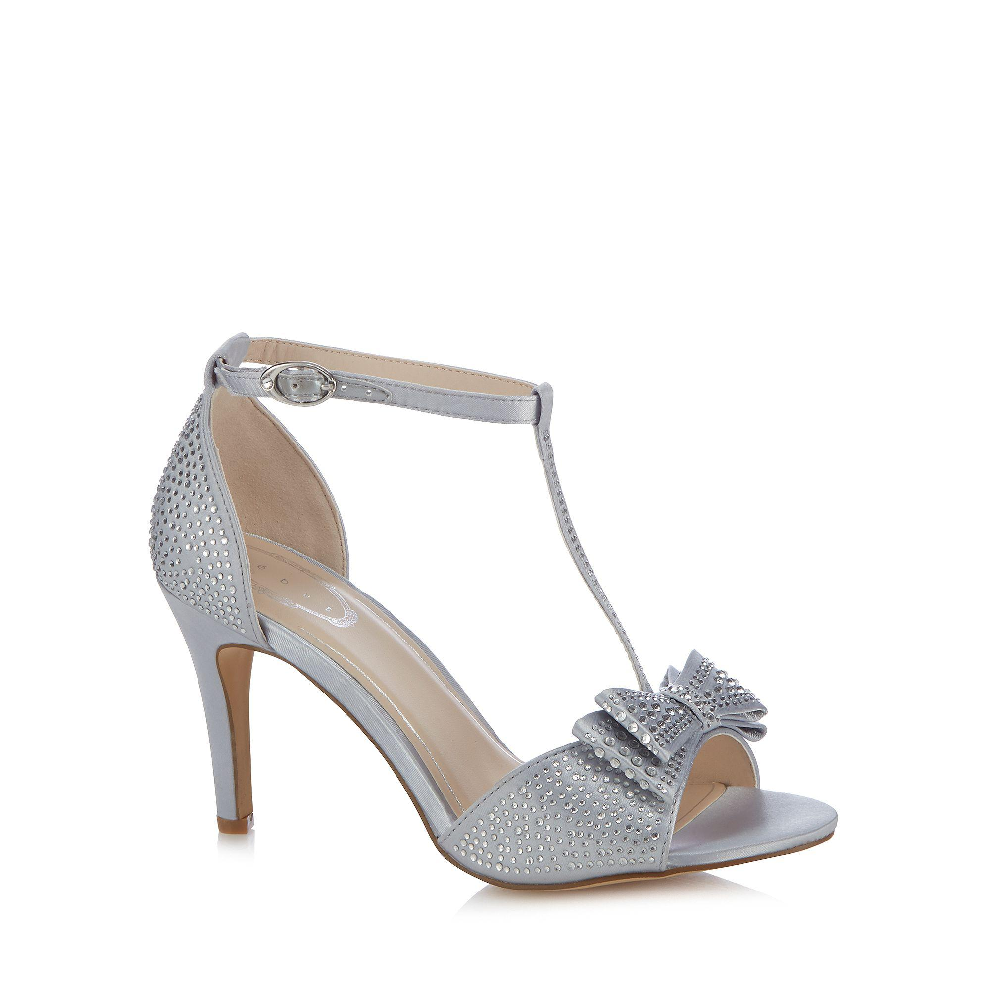 d3c6c6318b2 Début Silver 'dorothy' Diamante T-bar High Heeled Sandals in ...