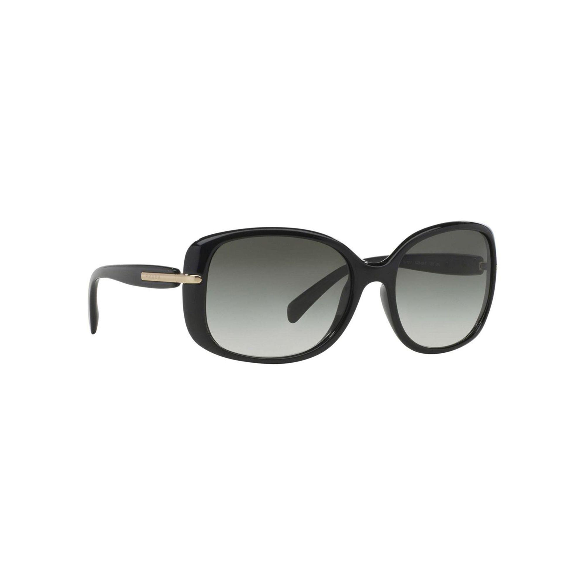 d8c9a5ea1cf42a Prada Black Pr08os Square Sunglasses in Black - Lyst
