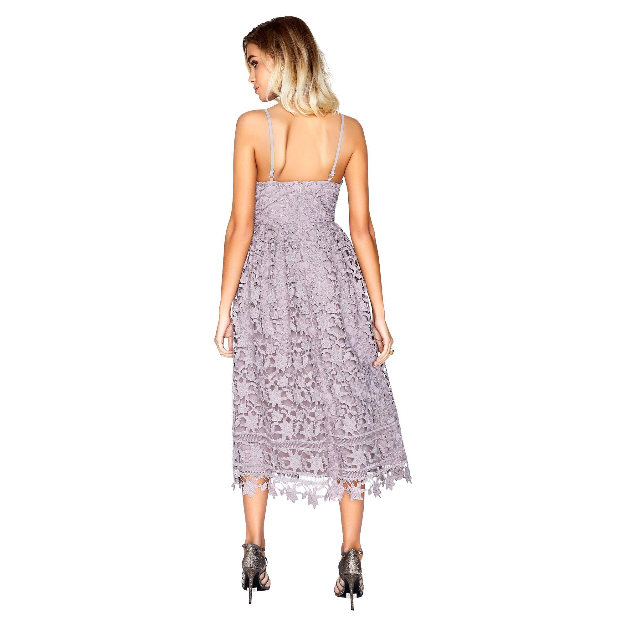 bb033772f76be Little Mistress Oyster Midi Dress in Purple - Lyst