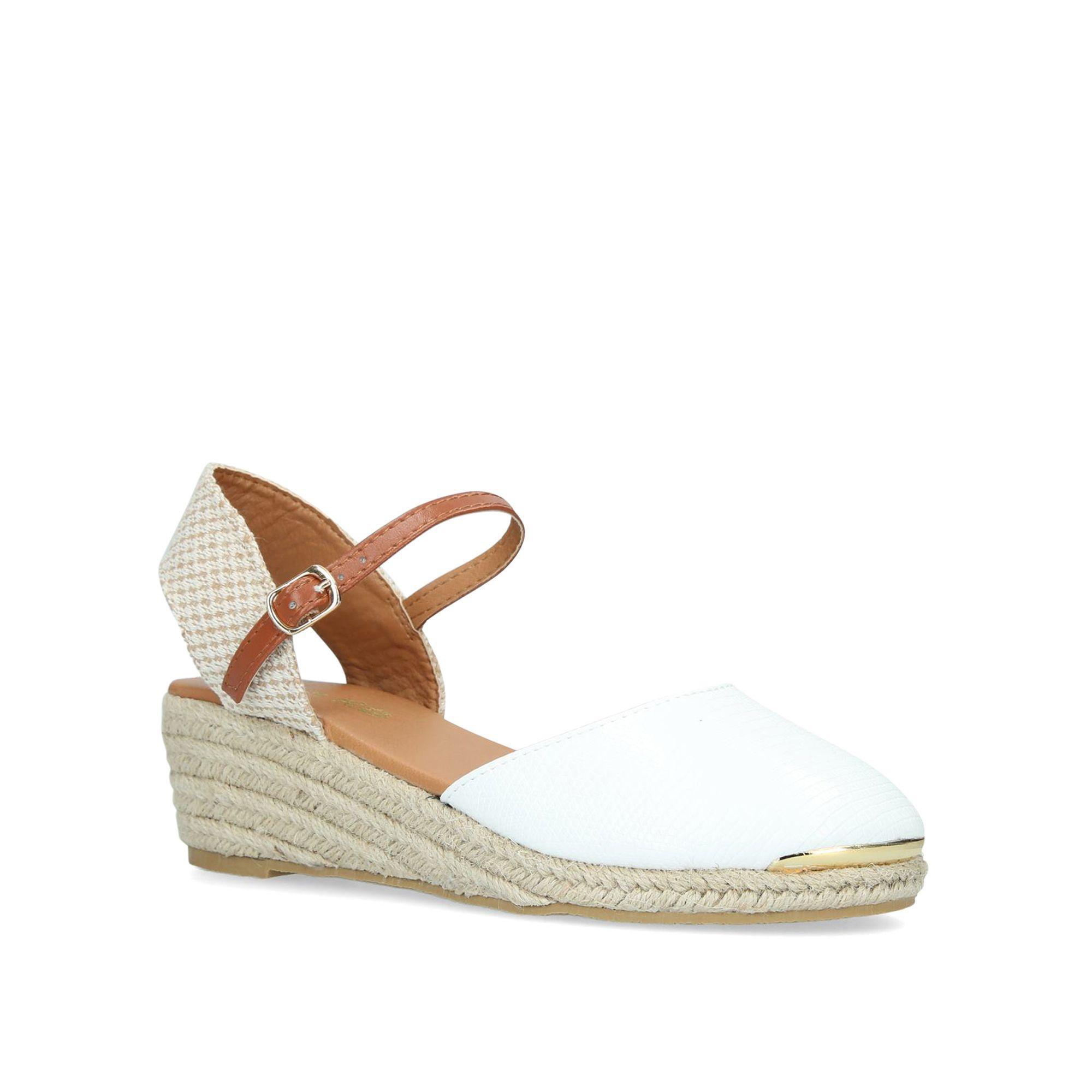 9b34394786c Women's White 'lea' Espadrille Wedge Sandals