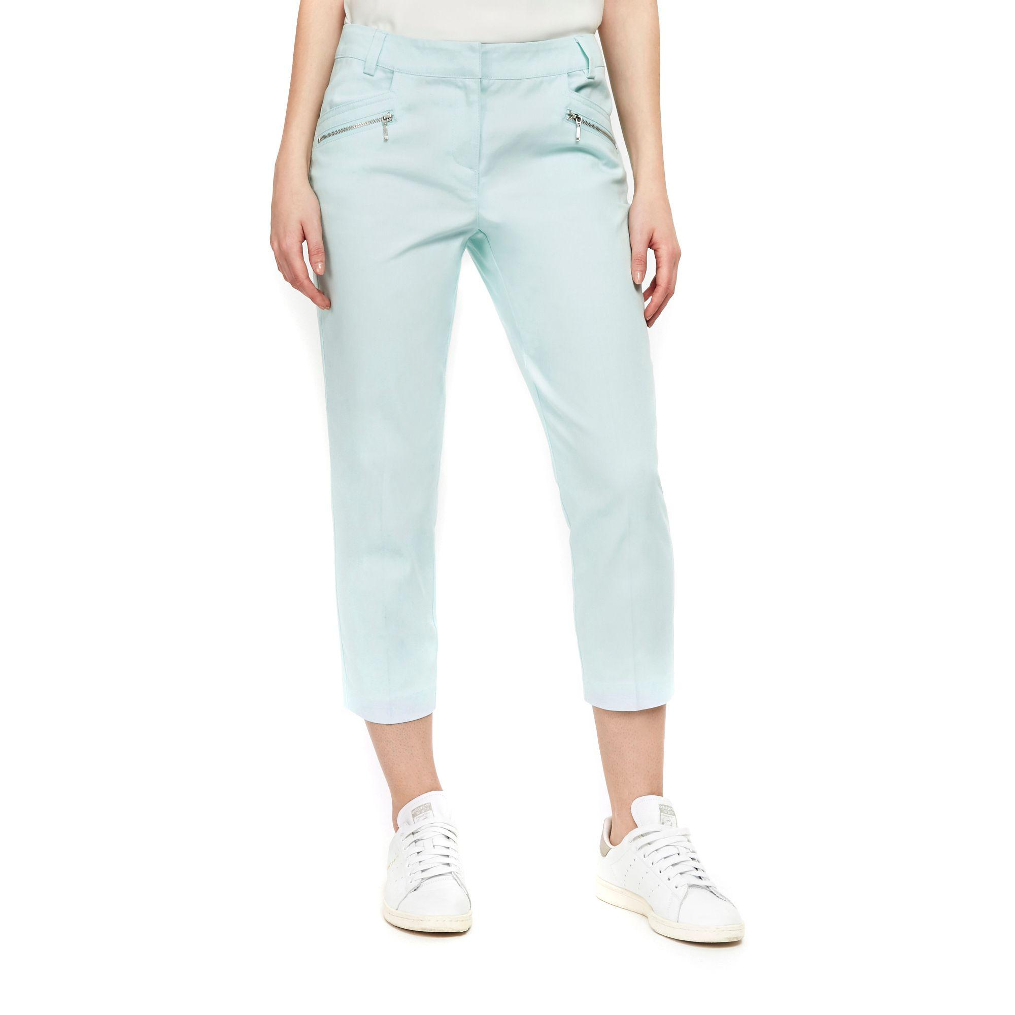 best online crazy price buying now Wallis Cotton Petite Mint Cropped Trouser in Light Green (Green ...