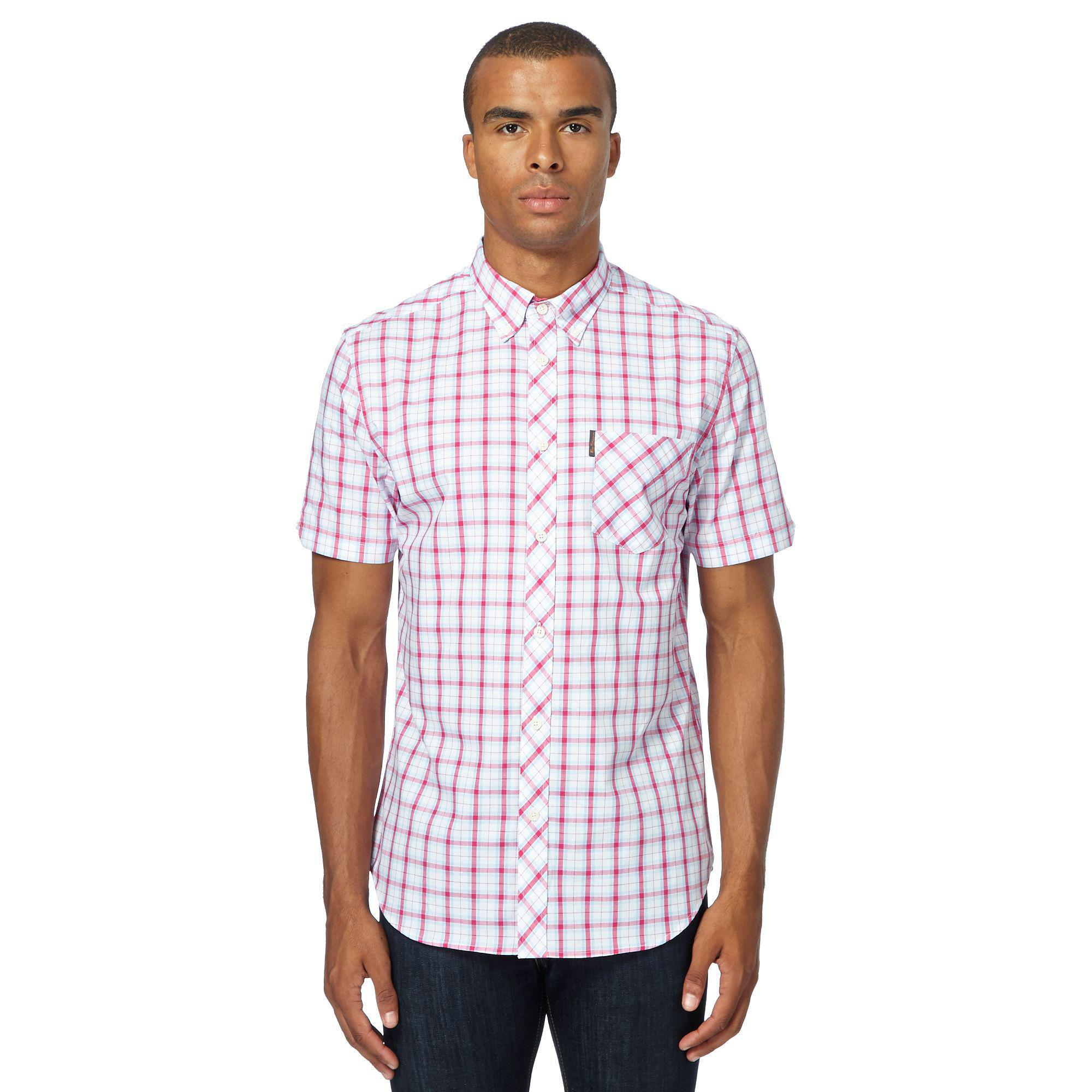 95f6e9b2b6 Ben Sherman Pink Checked Regular Fit Shirt in Pink for Men - Lyst