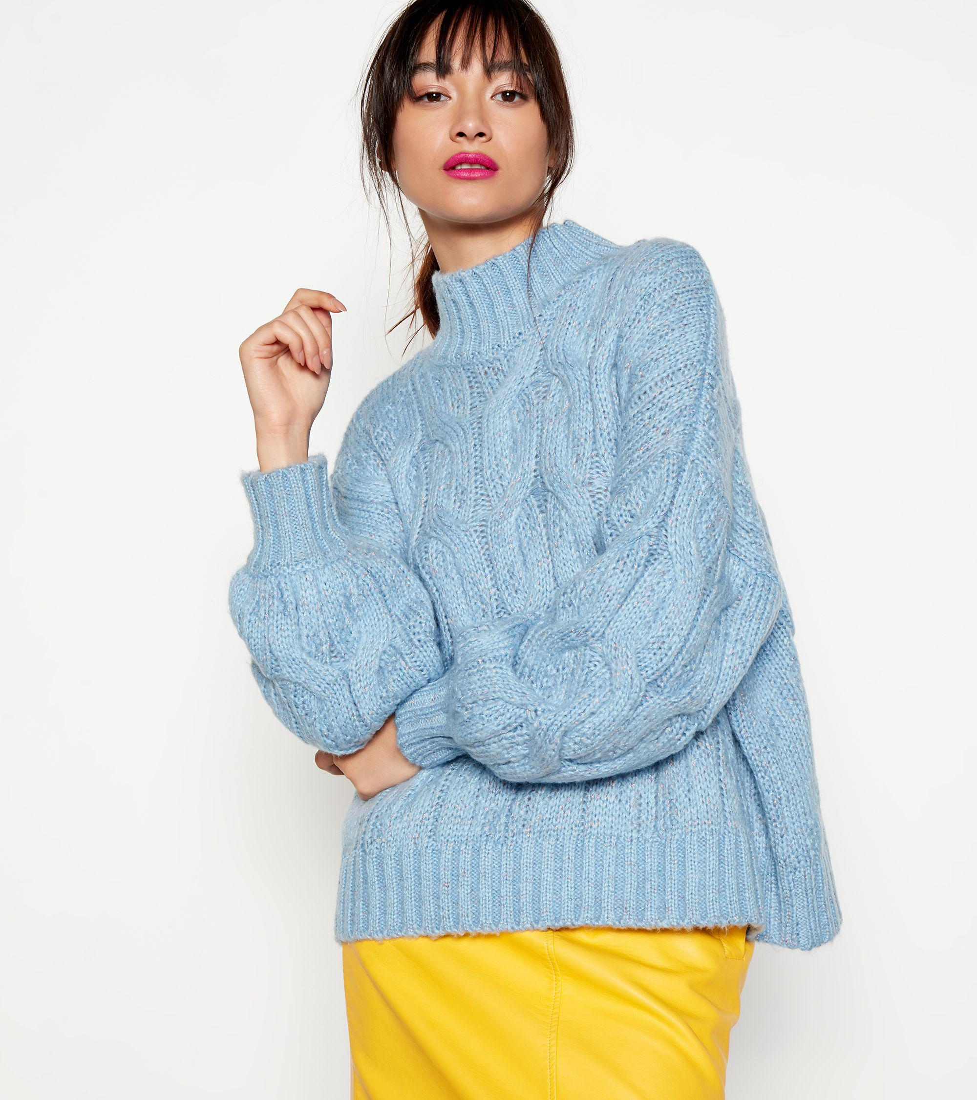 b2db9bf6ed6 House of Holland Light Blue Chunky Cable Knit Jumper