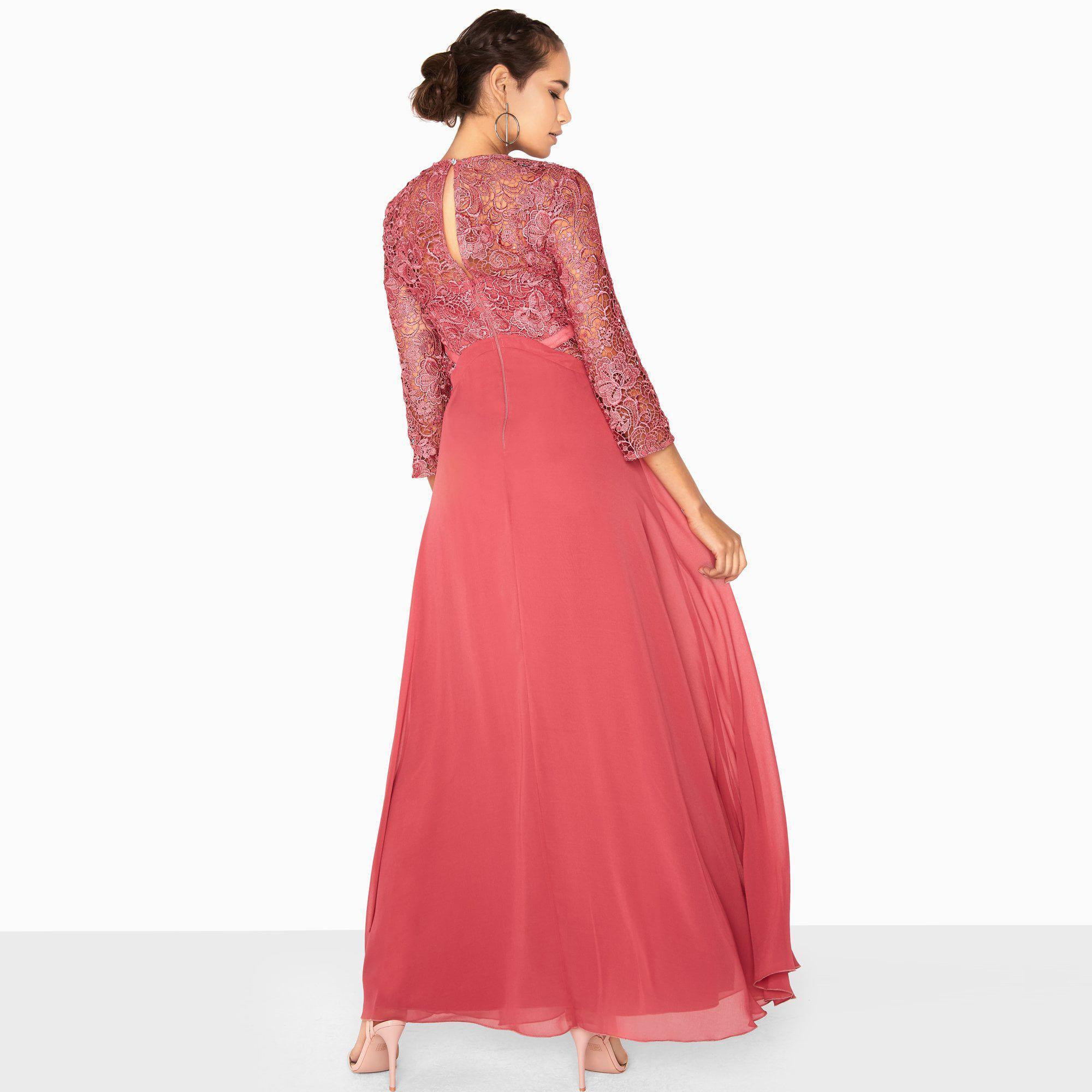 47b48c7183d Little Mistress - Pink Brooke Crochet Top Maxi Dress - Lyst. View fullscreen