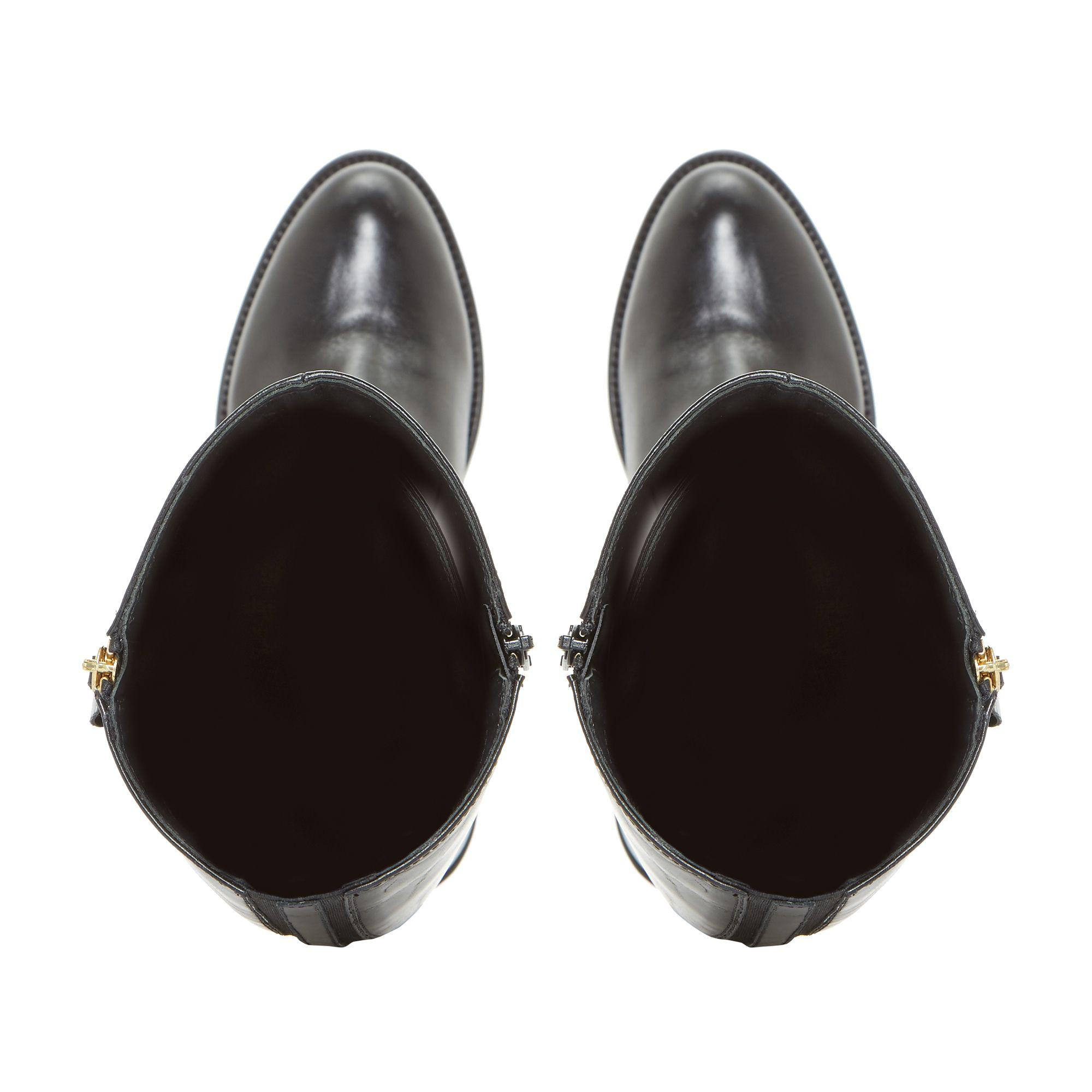 Dune Black 'tillyy' Side Zip Leather Riding Boots