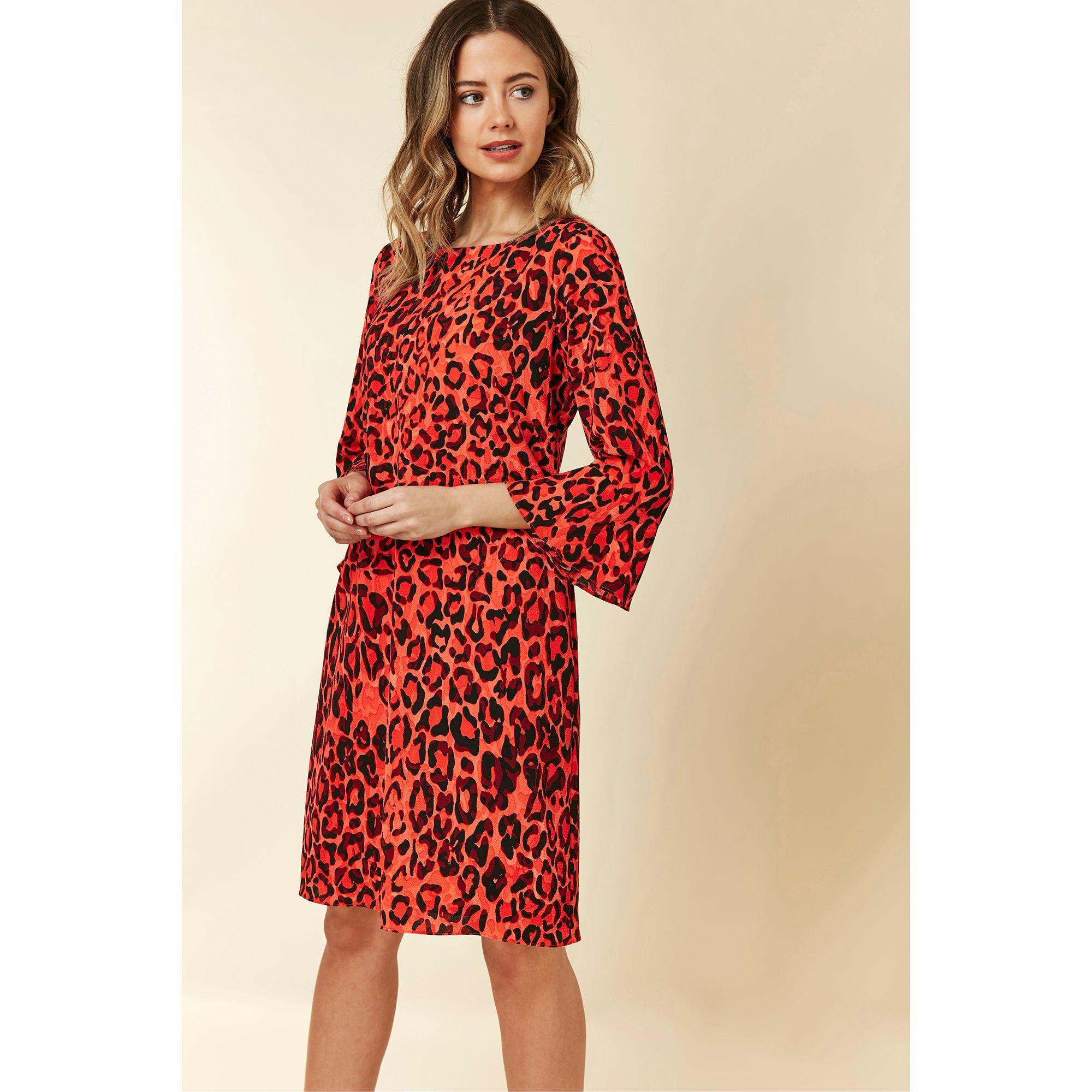dc23bdf7d1b Wallis Petite Orange Animal Print Shift Dress in Orange - Lyst