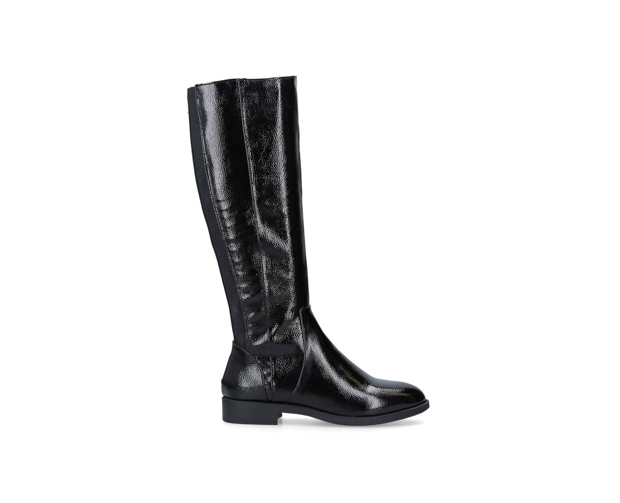 5caa0d121554 Miss Kg Black  hilly  Patent Knee High Boots in Black - Save 34% - Lyst