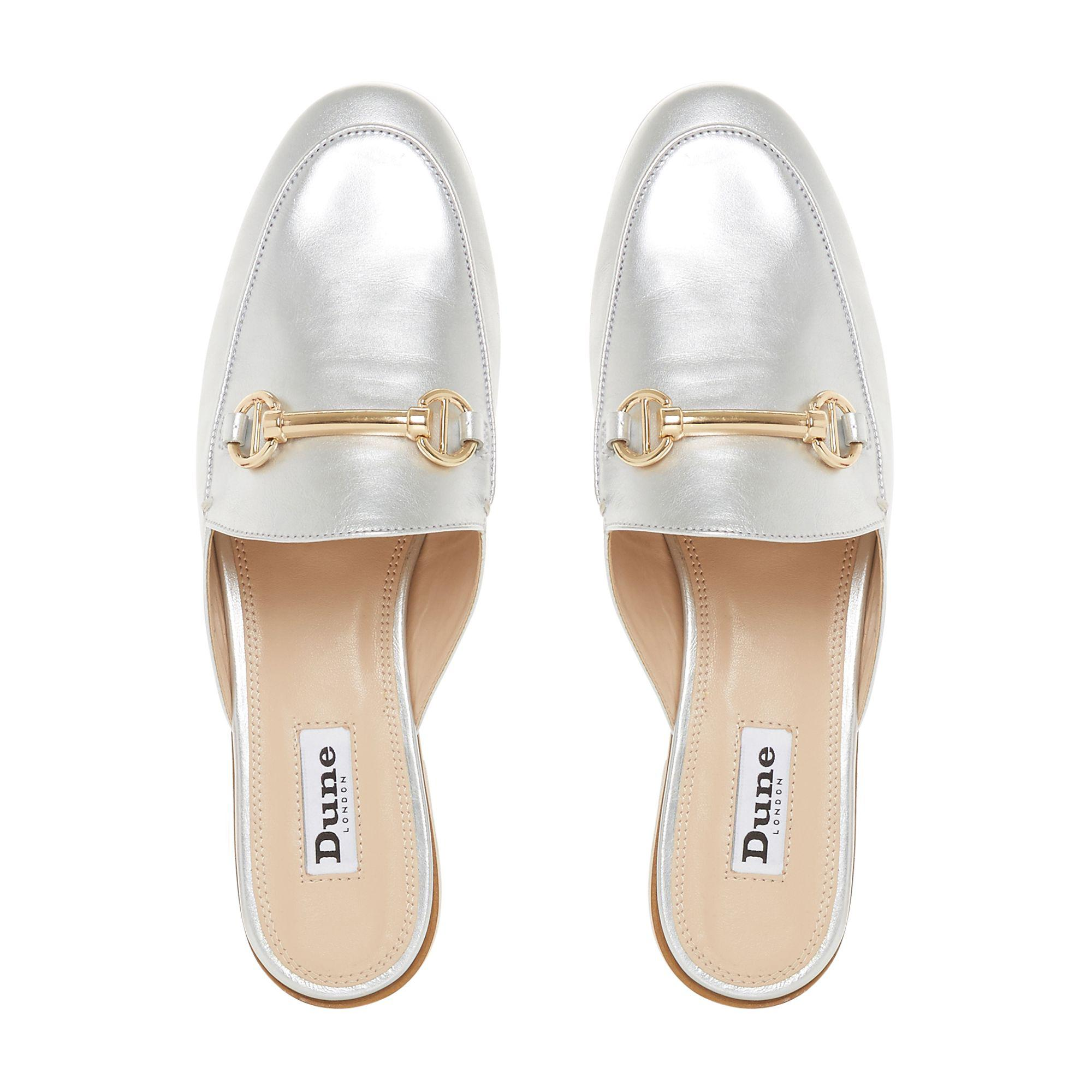 2480695716f Dune Silver Leather  gene  Loafers in Metallic - Save 19% - Lyst