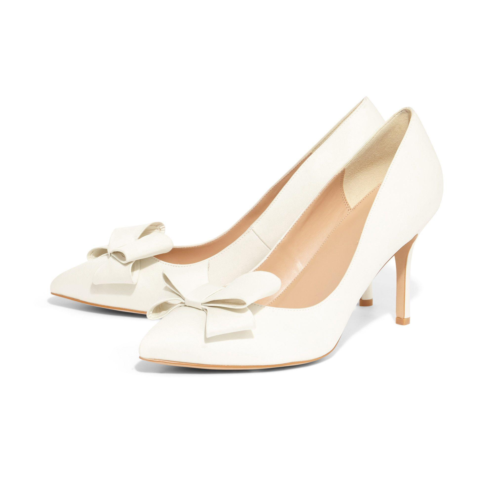4bf2bacbf76d ... Phase Eight - Natural Cream Kara Satin Pointed Court Shoes - Lyst.  Visit Debenhams. Tap to visit site