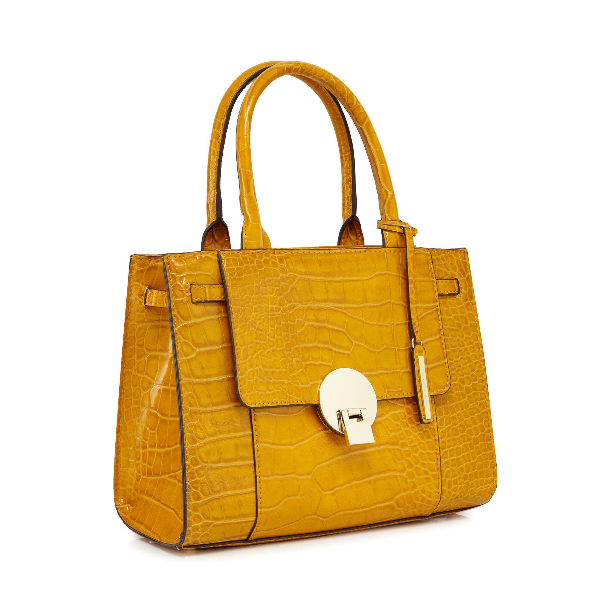 b695977b398b J By Jasper Conran Mustard Croc Effect Small Grab Bag in Yellow - Lyst