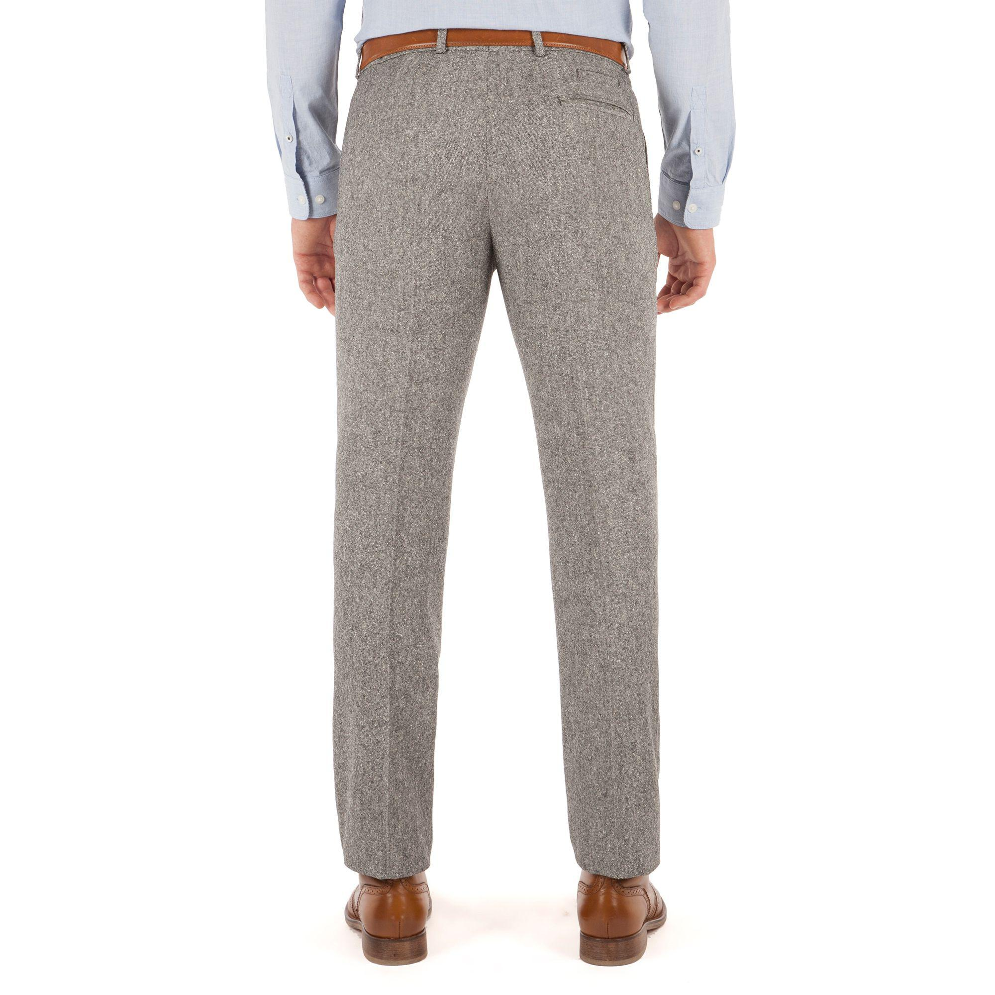 Red Herring Light Grey Donegal Look Trousers in Grey for Men