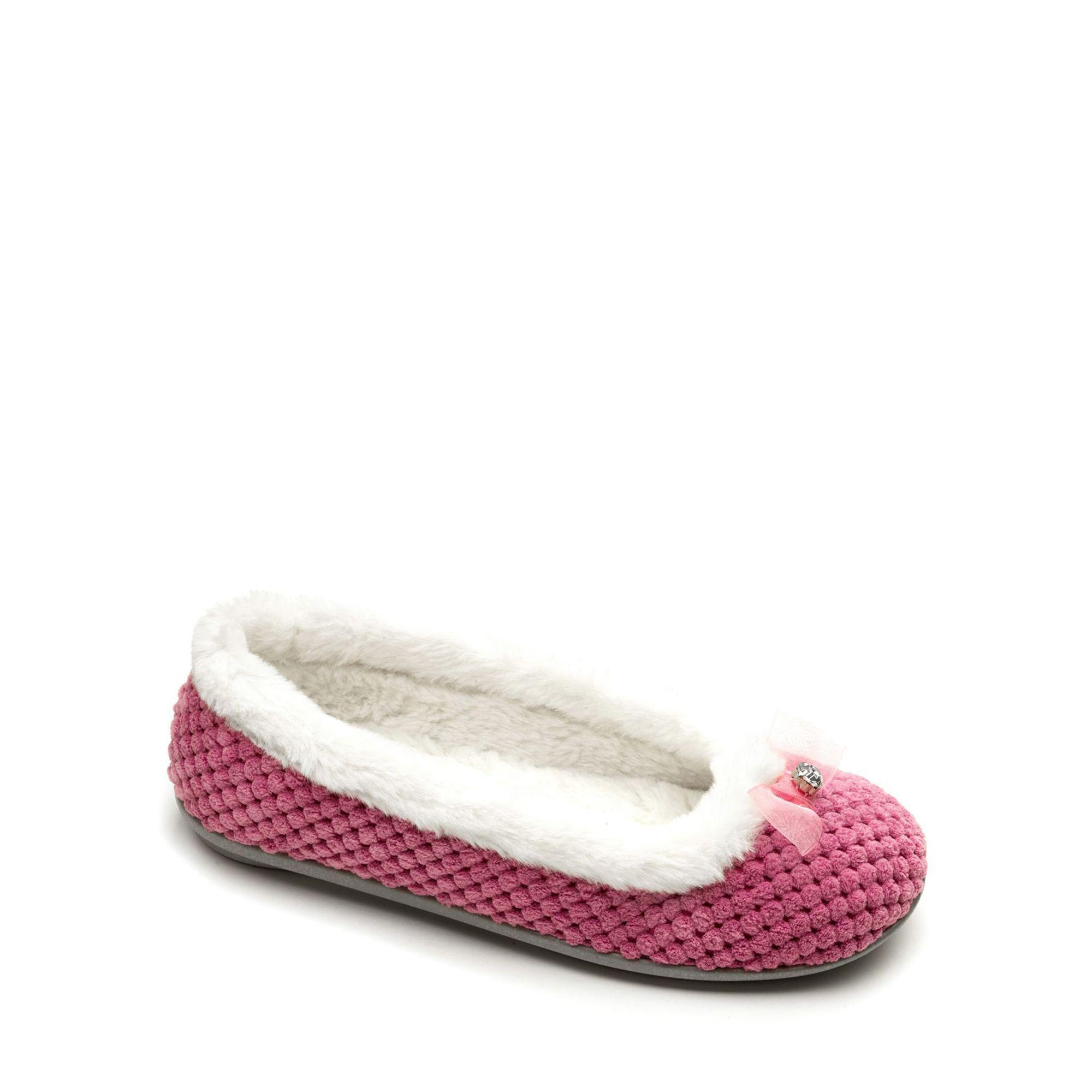 5d49aedc Freestep Pink Textile Ladies Slipper in Pink - Lyst