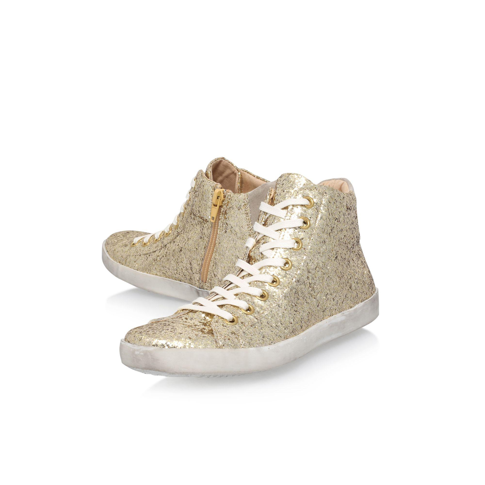 KG by Kurt Geiger Gold 'ladder' Flat Lace Up Sneakers in Metallic