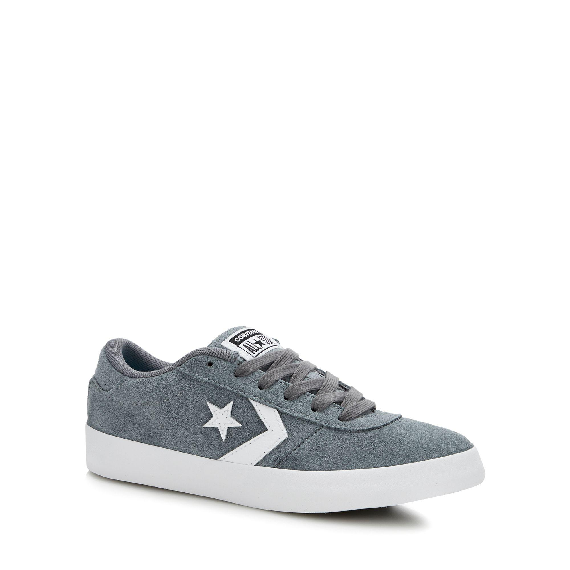 3a17a3f402c91f Converse Grey Suede  point Star  Trainers in Gray - Lyst