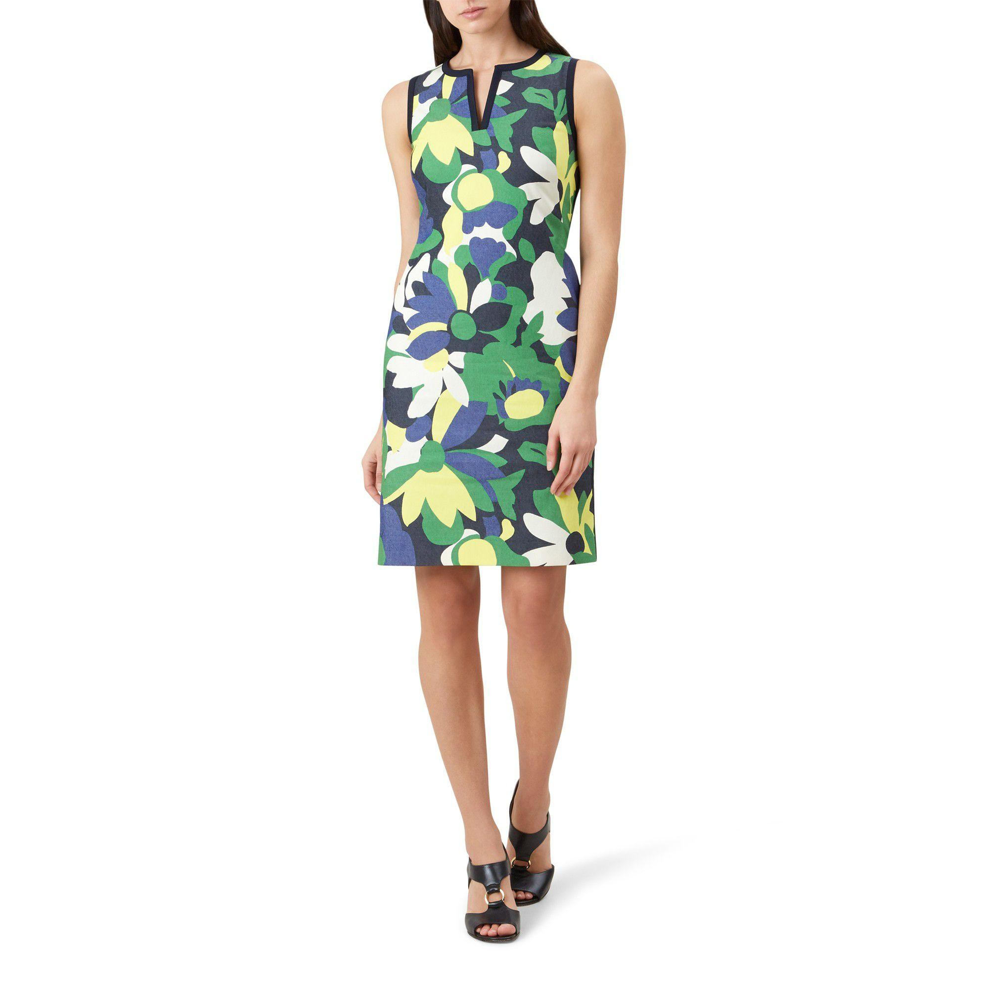 best shoes on wholesale clearance sale Hobbs Cotton Sita Dress in Green - Save 38% - Lyst