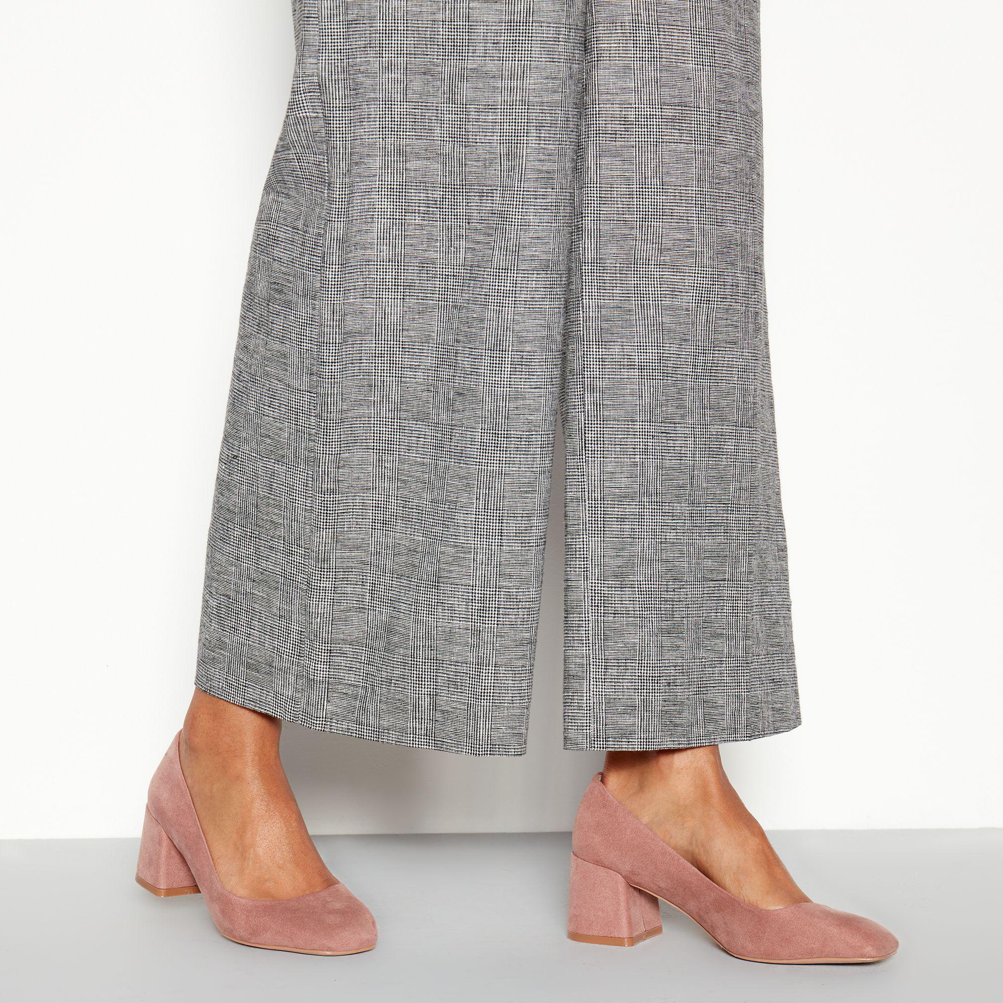 clearance sale best selection of famous designer brand Faith Natural Suedette 'wandice' Block Heel Wide Fit Shoes ...