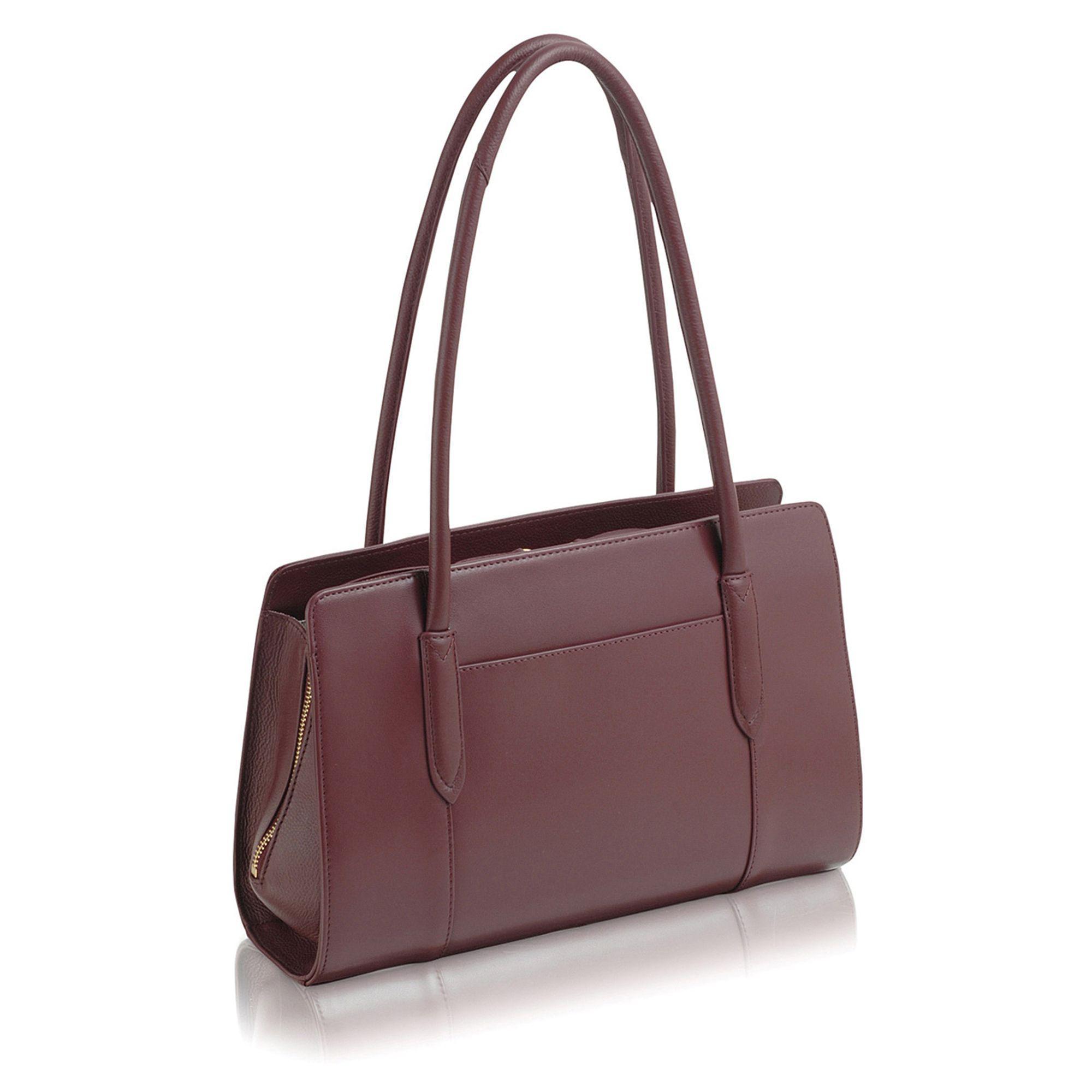 Radley Medium Leather 'liverpool Street' Tote Bag in Dark Red (Red)