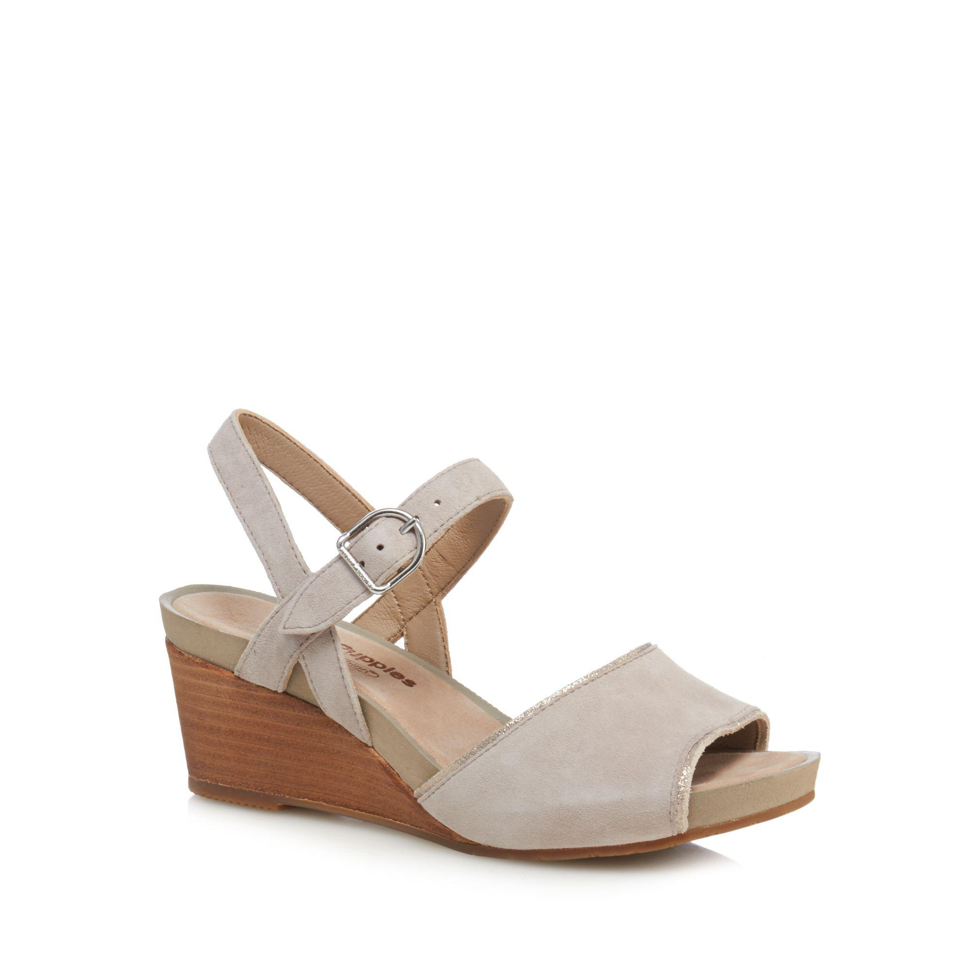 Light grey suede 'Cassale' mid wedge heel ankle strap sandals sale tumblr excellent cheap online new cheap price footlocker finishline sale online pick a best cheap online M6imd