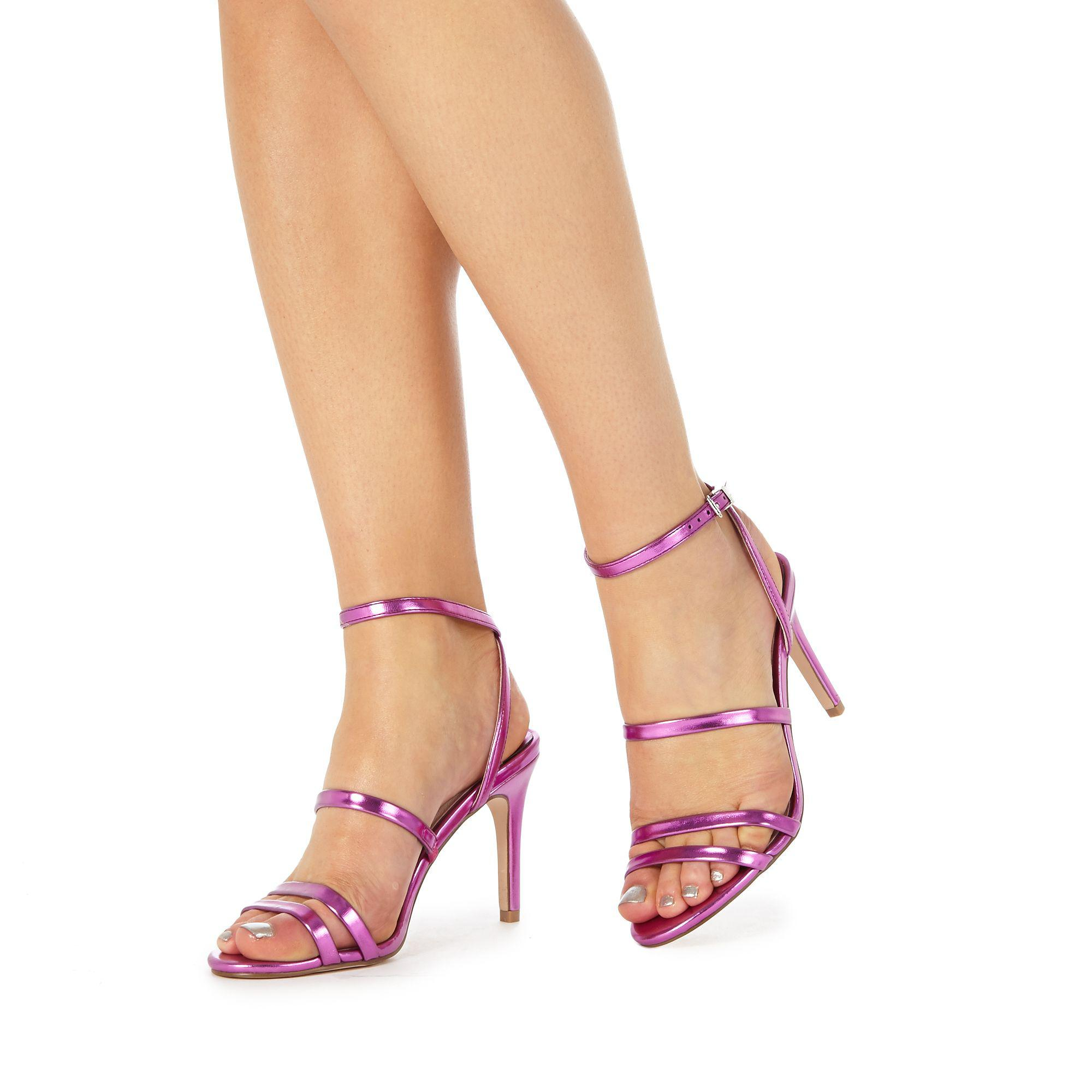 02c59298a03e Faith Pink  disco  High Stiletto Heel Ankle Strap Sandals in Pink - Lyst
