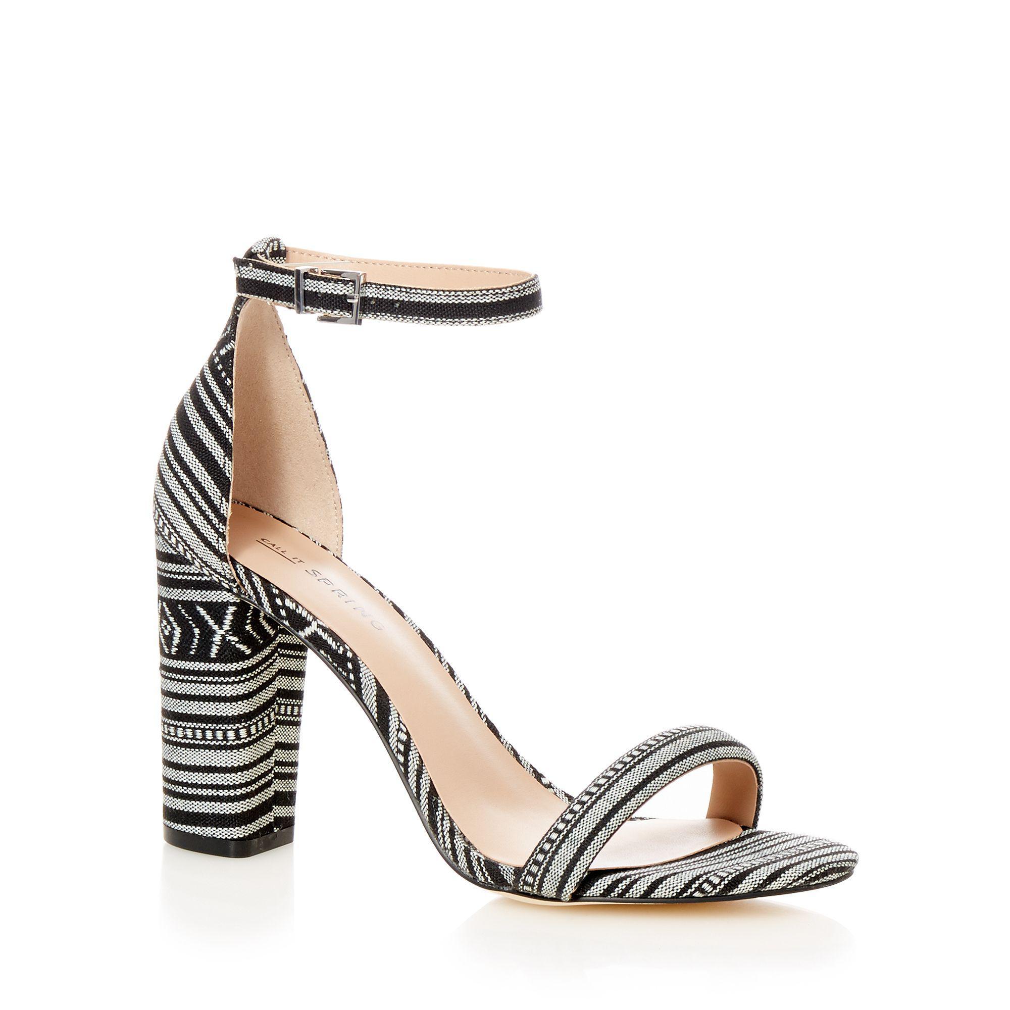 d17c7ed8200b Call It Spring Black  brelawien  High Block Heel Ankle Strap Sandals ...