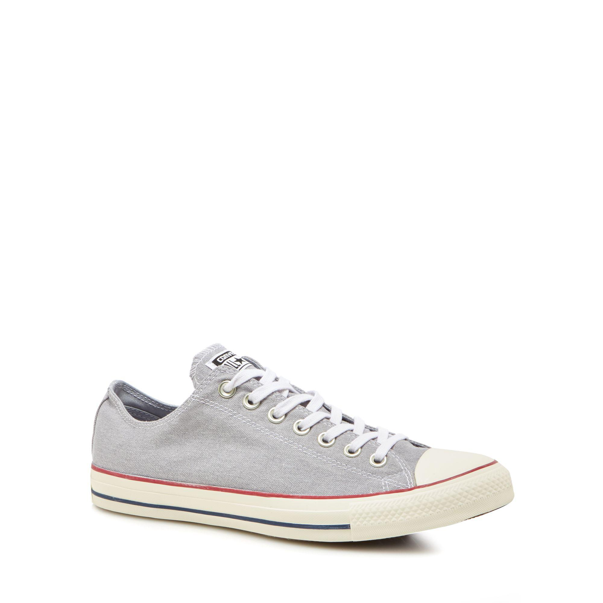 dbbefad778c311 Converse Light Grey Canvas  chuck Taylor All Star  Trainers in Gray ...