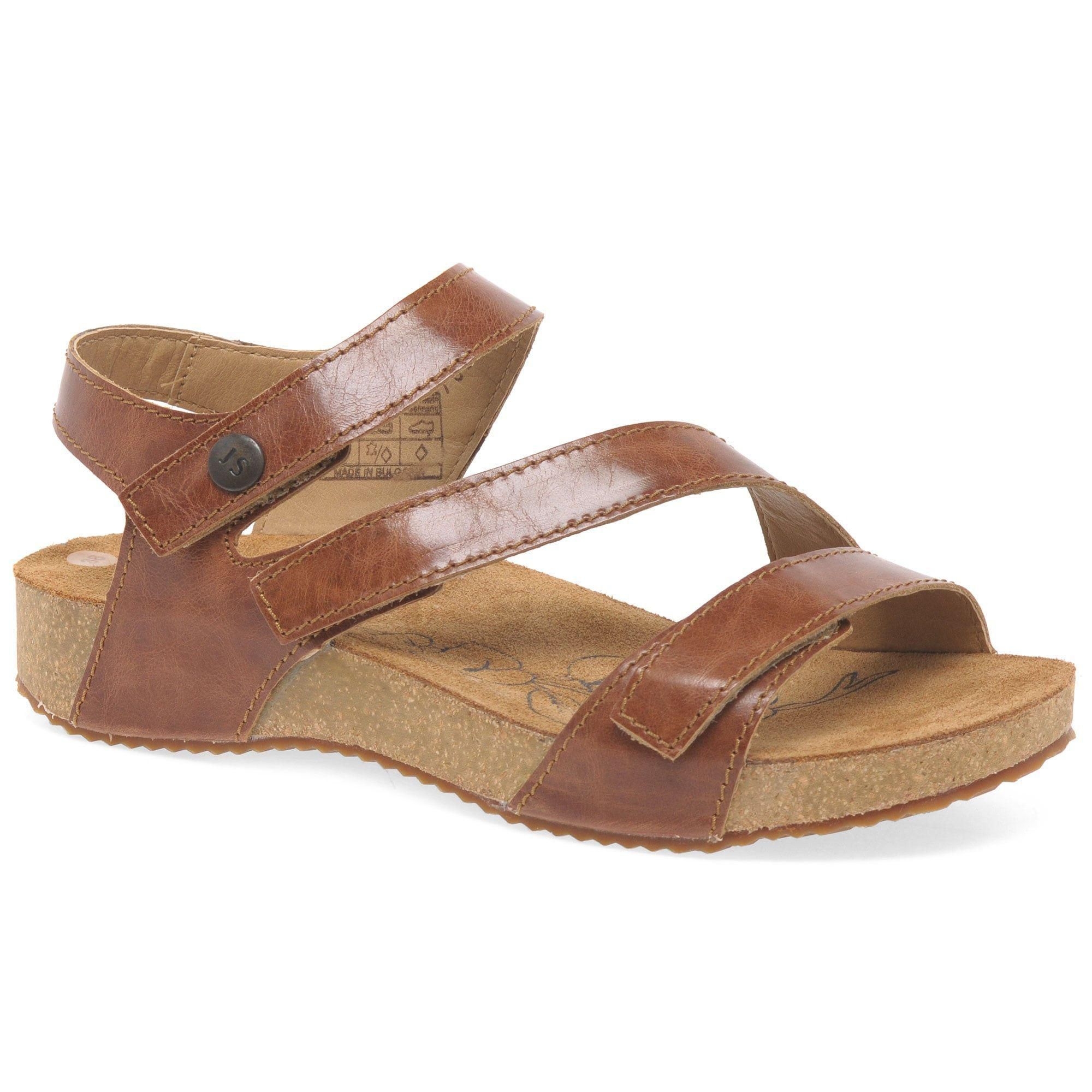8bf56f127c48 Josef Seibel Camel  tonga 25  Womens Leather Sandals in Natural - Lyst