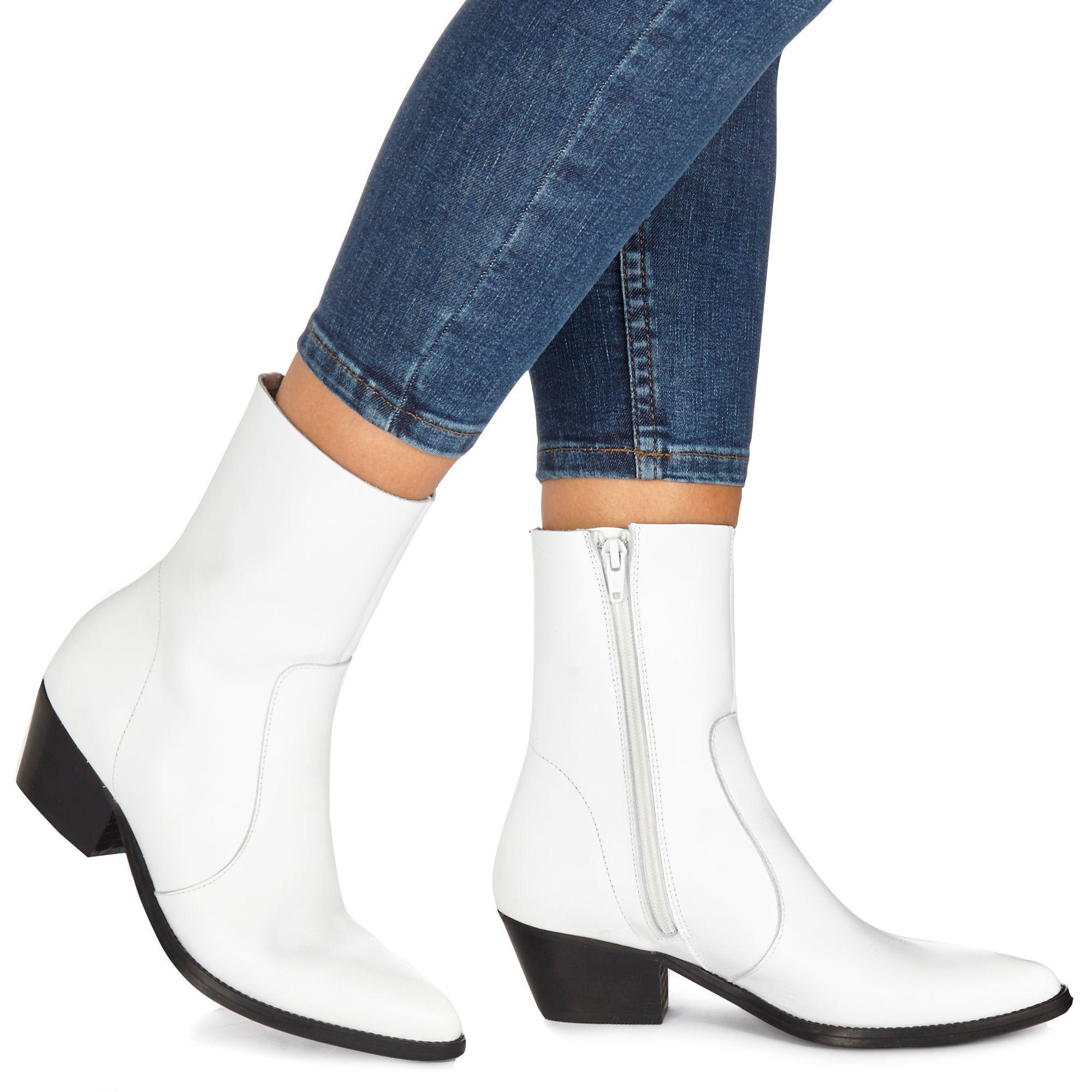 faith hvit ankle støvler store 64ff6 cdae9