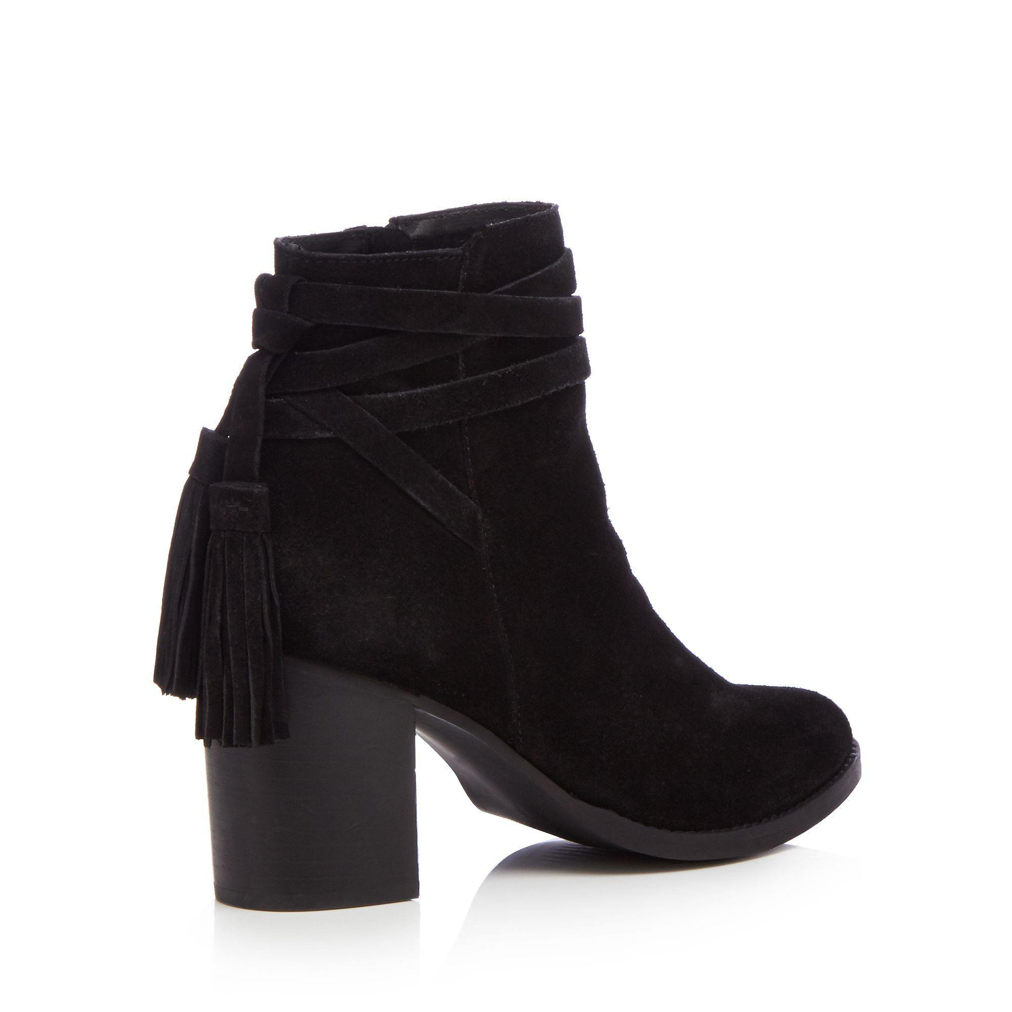 High Block Heel Ankle Boots - Lyst