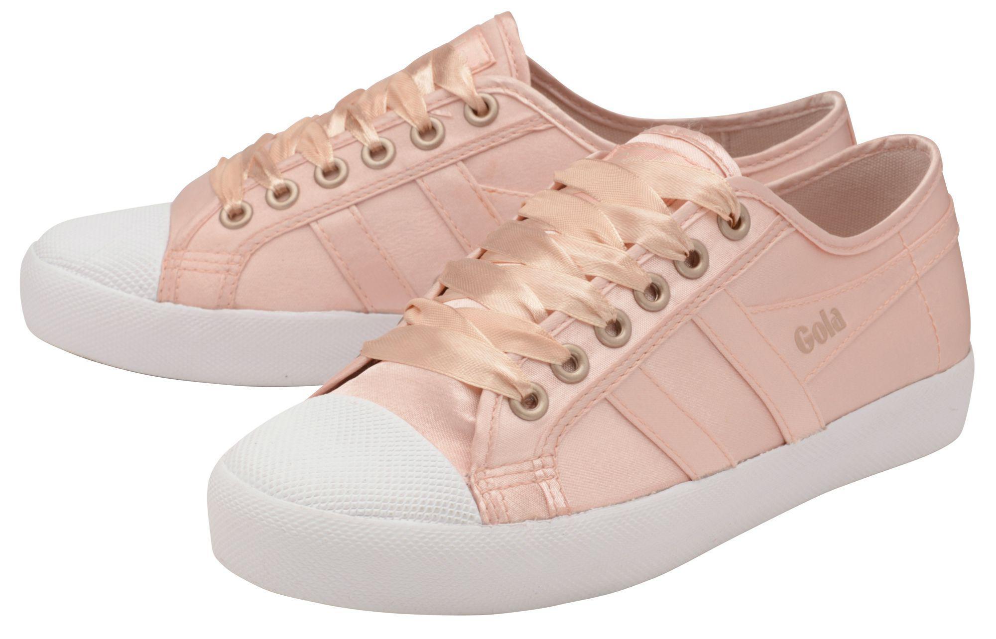 Gola Coaster Satin Sneaker in Pink