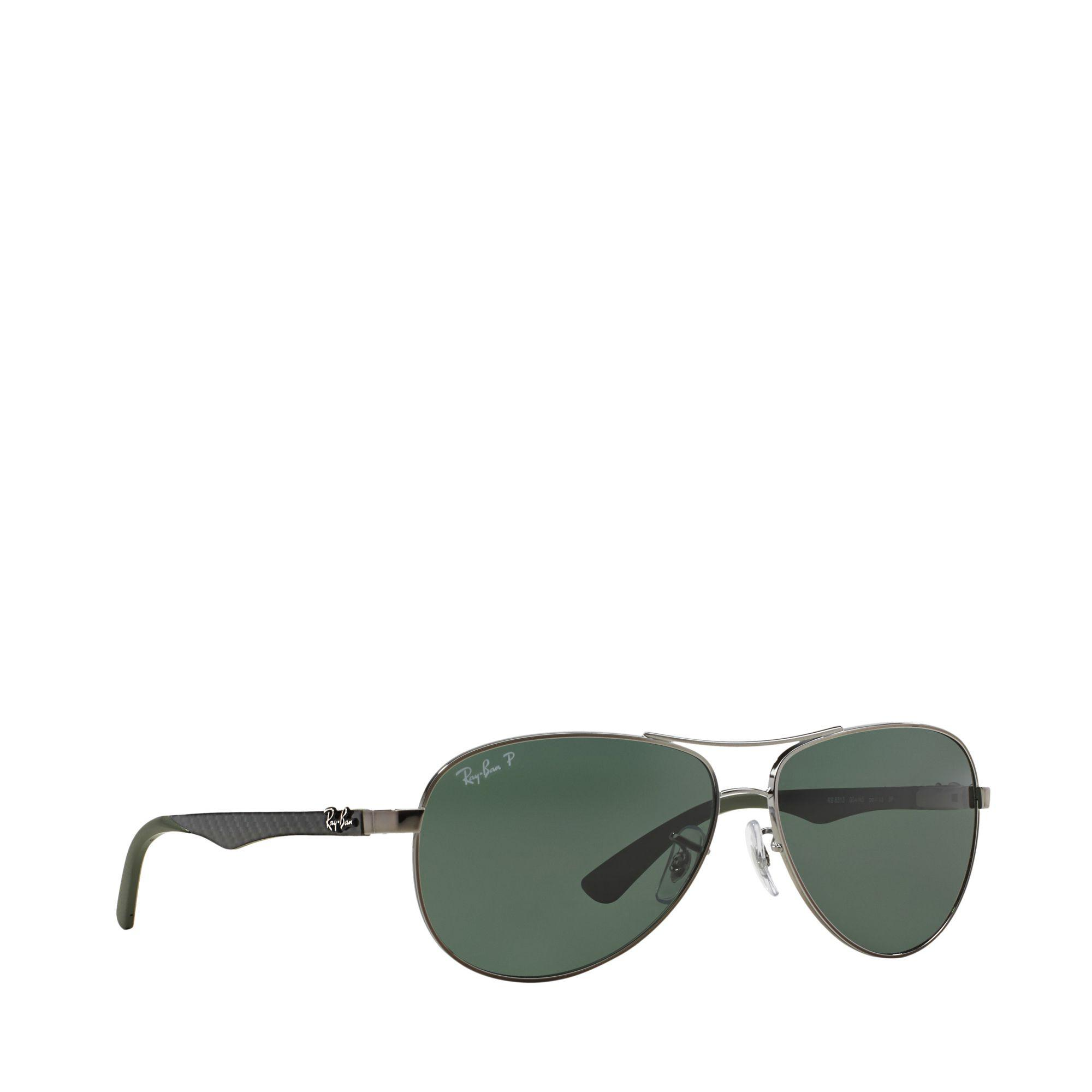 92304b03506 Ray-Ban Gunmetal Rb8313 Pilot Sunglasses in Gray for Men - Lyst