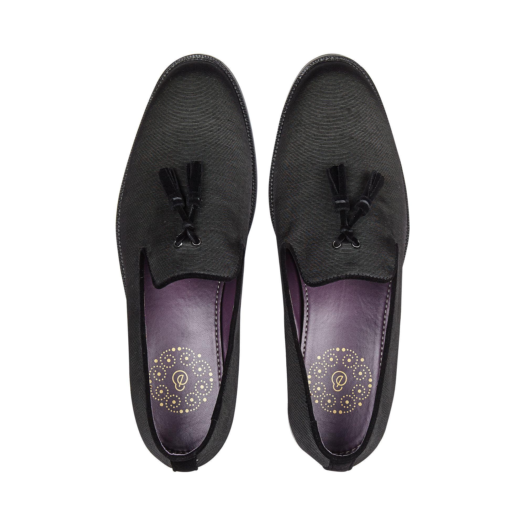 Burton Black Dress Loafers for Men