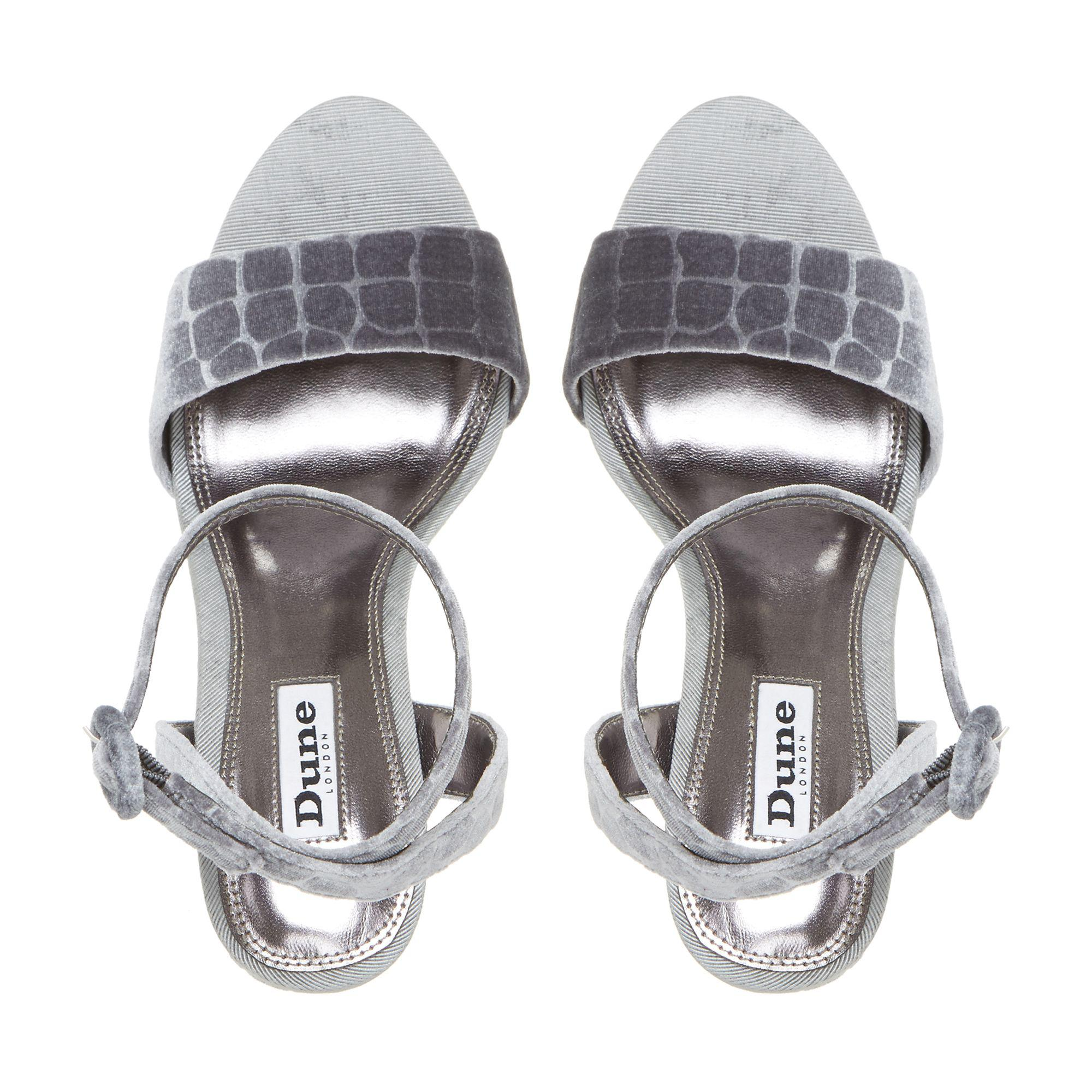 5d9cc593dcc Dune Morisey Block Heeled Platform Sandals in Gray - Save 33% - Lyst
