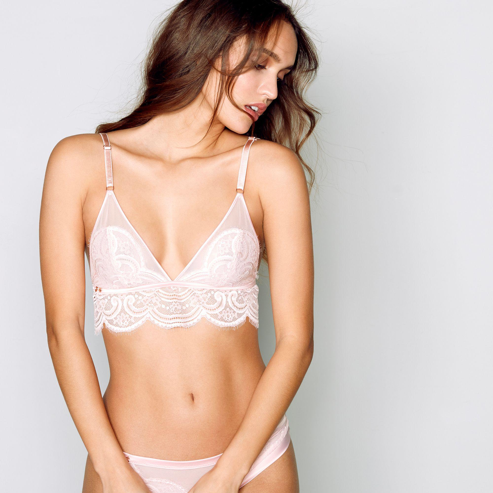 50ec9f8ebd0e56 Ted Baker - Pink Lace Non-wired Non-padded Bralette - Lyst. View fullscreen