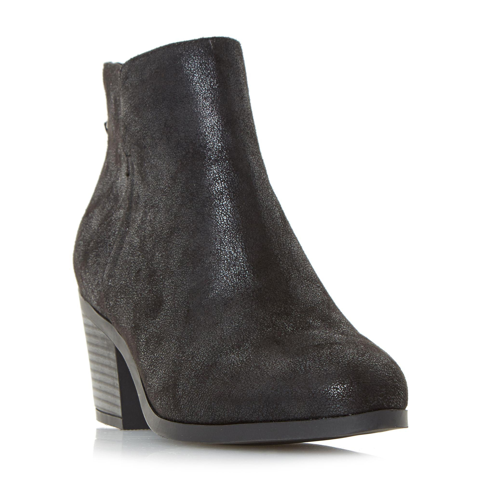 Dune Black 'pretty' Back Zip Ankle Boots