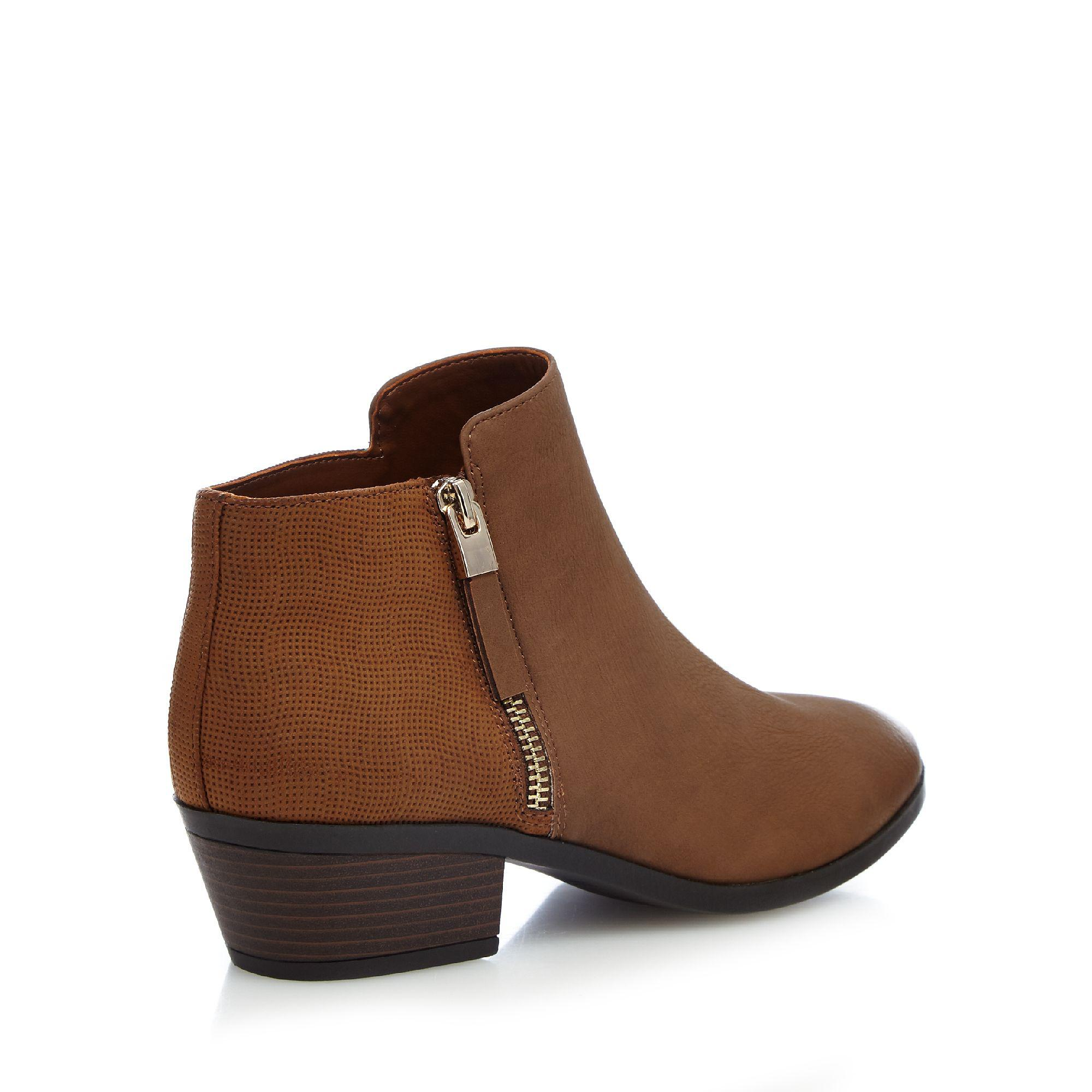 Call It Spring Tan 'gunson' Mid Block Heel Ankle Boots in Brown
