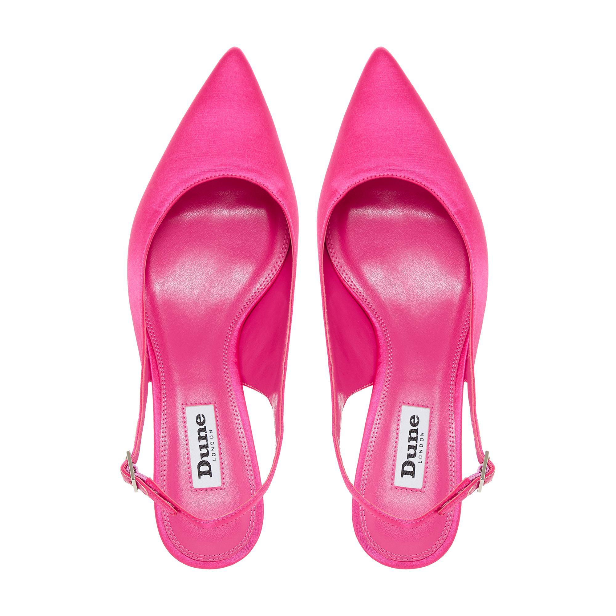 6086a39468a Dune Bright Pink  crystal  Mid Kitten Heel Court Shoes in Pink - Lyst