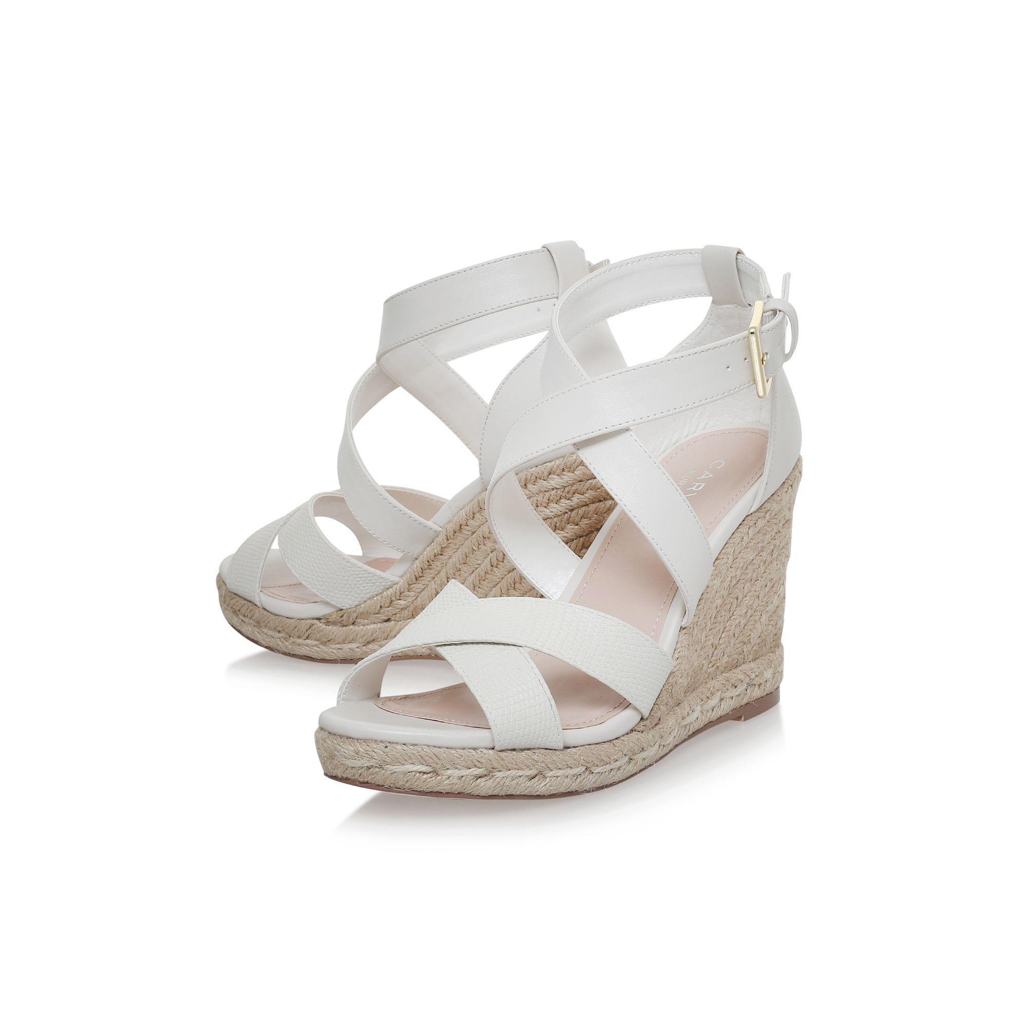 b0c10faaa4 Carvela Kurt Geiger - White Smashing High Heel Wedge Sandals - Lyst. View  fullscreen