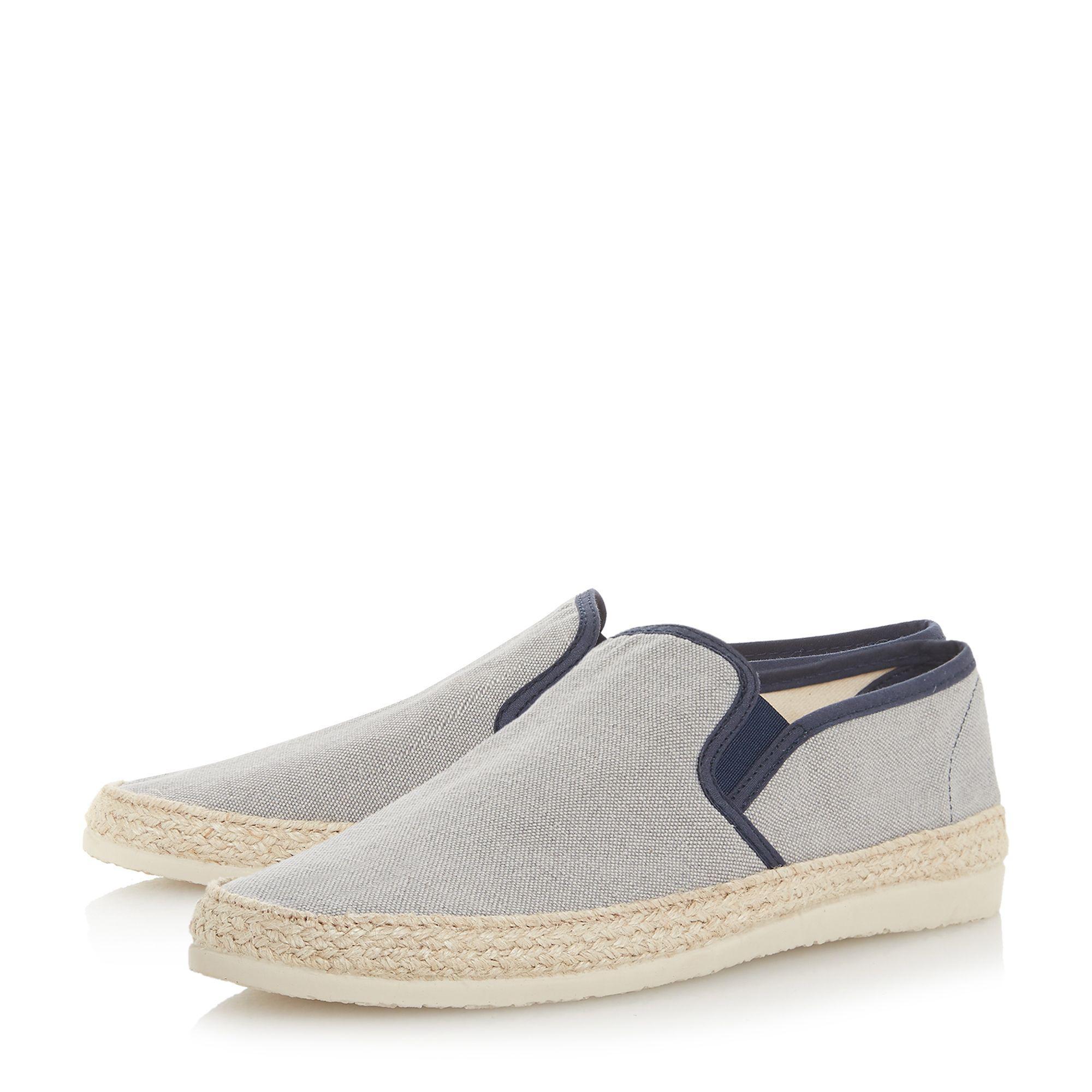 4cf85cbe Dune Grey 'fabien' Espadrilles Trim Canvas Shoes in Gray for Men - Lyst