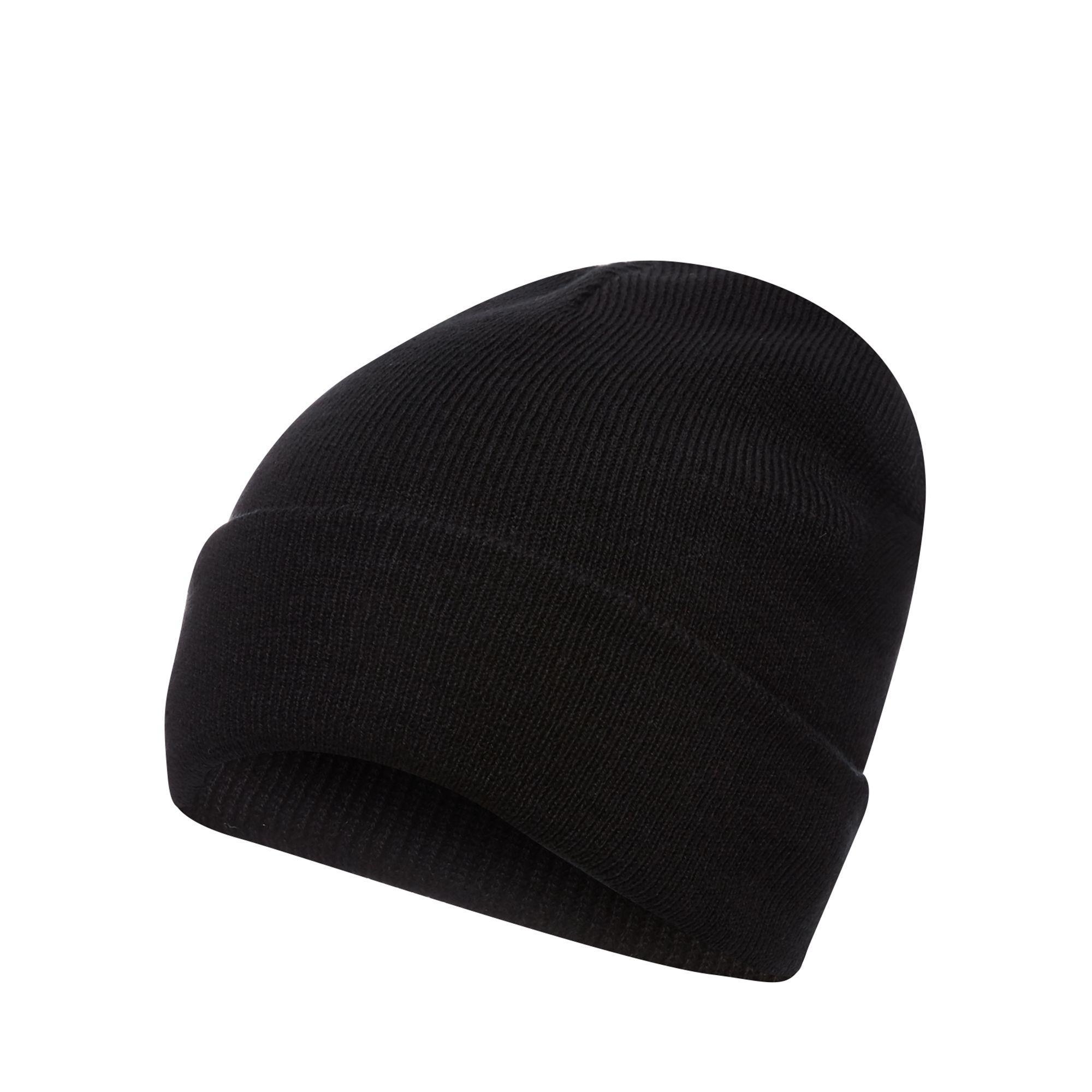 68c76a19560 Red Herring Black Plain Beanie Hat in Black for Men - Lyst