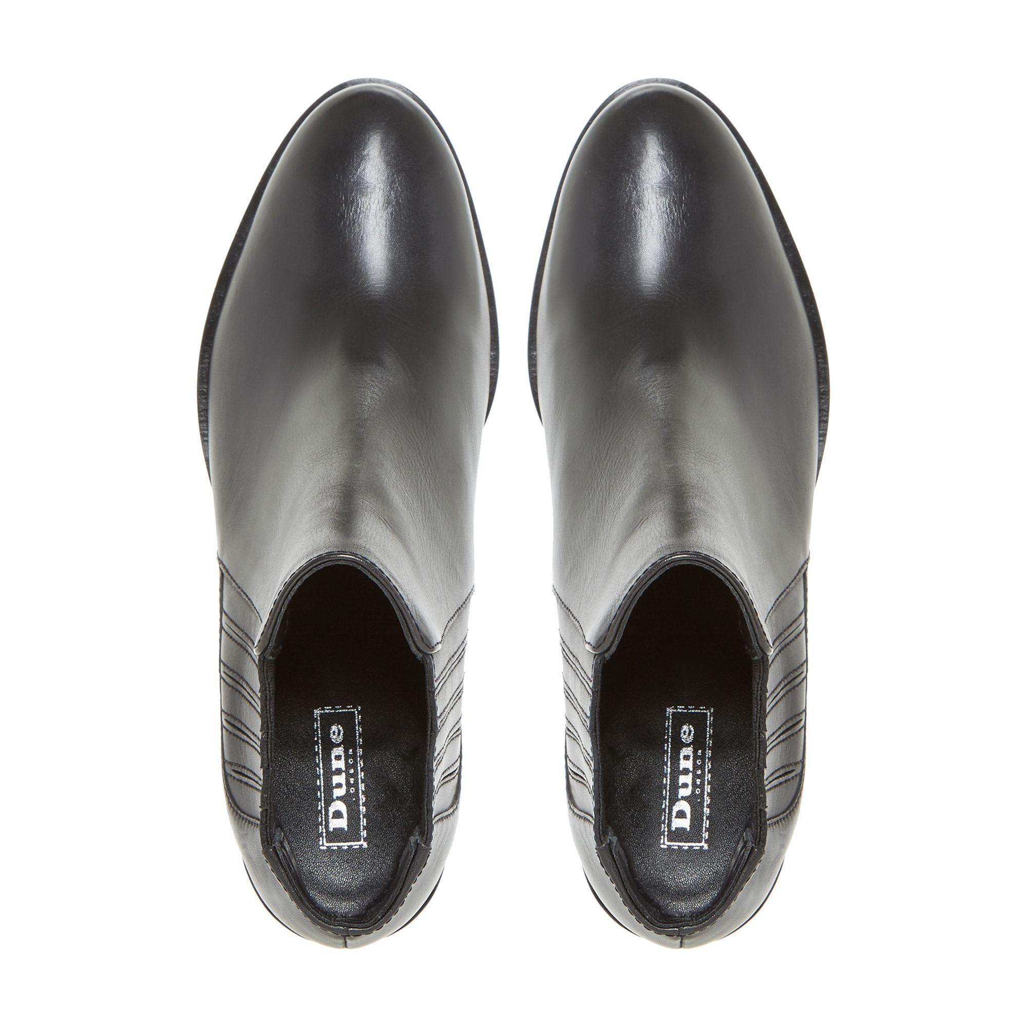 d0c06884ad6 Dune Black 'peter' Side Elasticated Block Heel Chelsea Boots