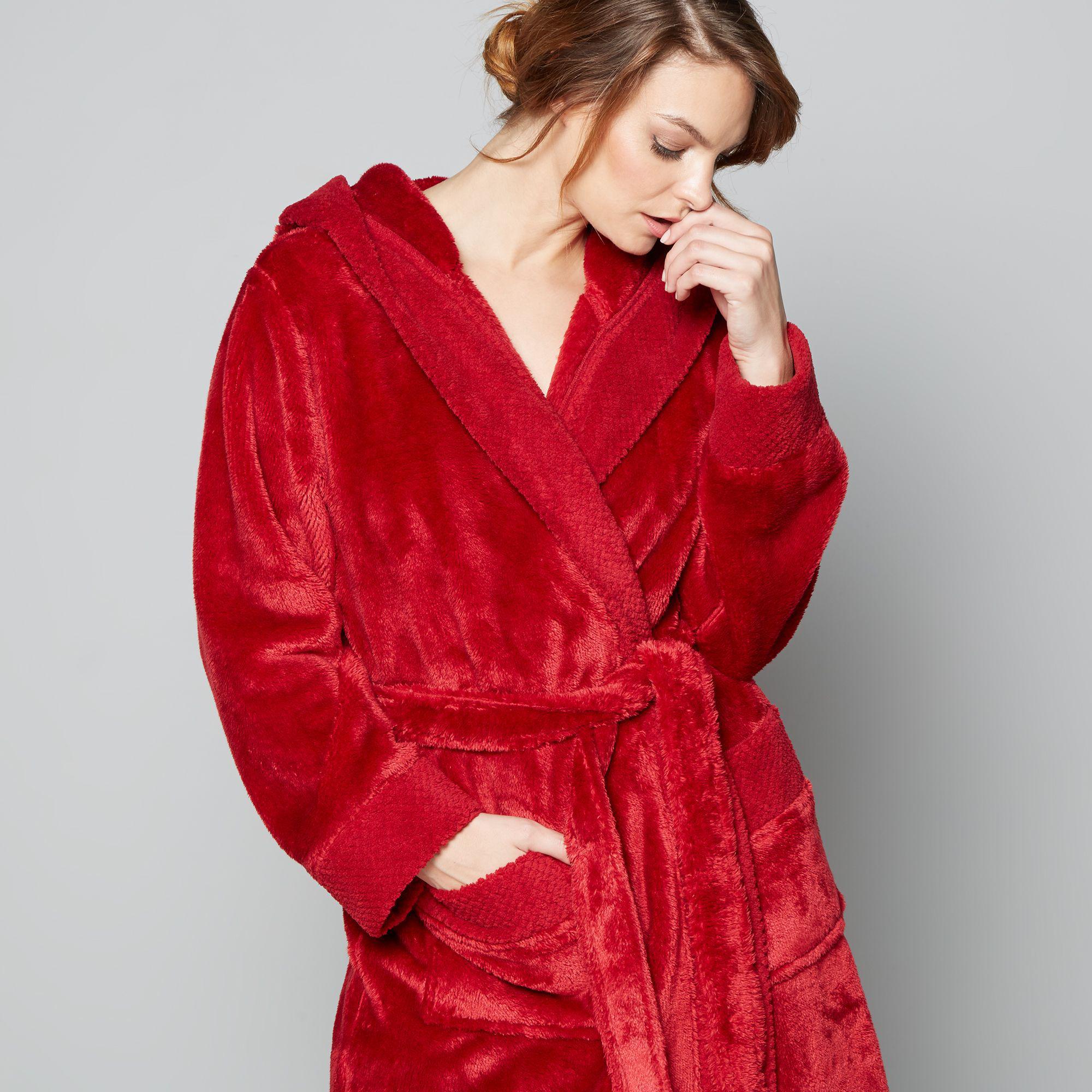 J By Jasper Conran Red Fleece Dressing Gown in Red - Lyst 617e6dc1c