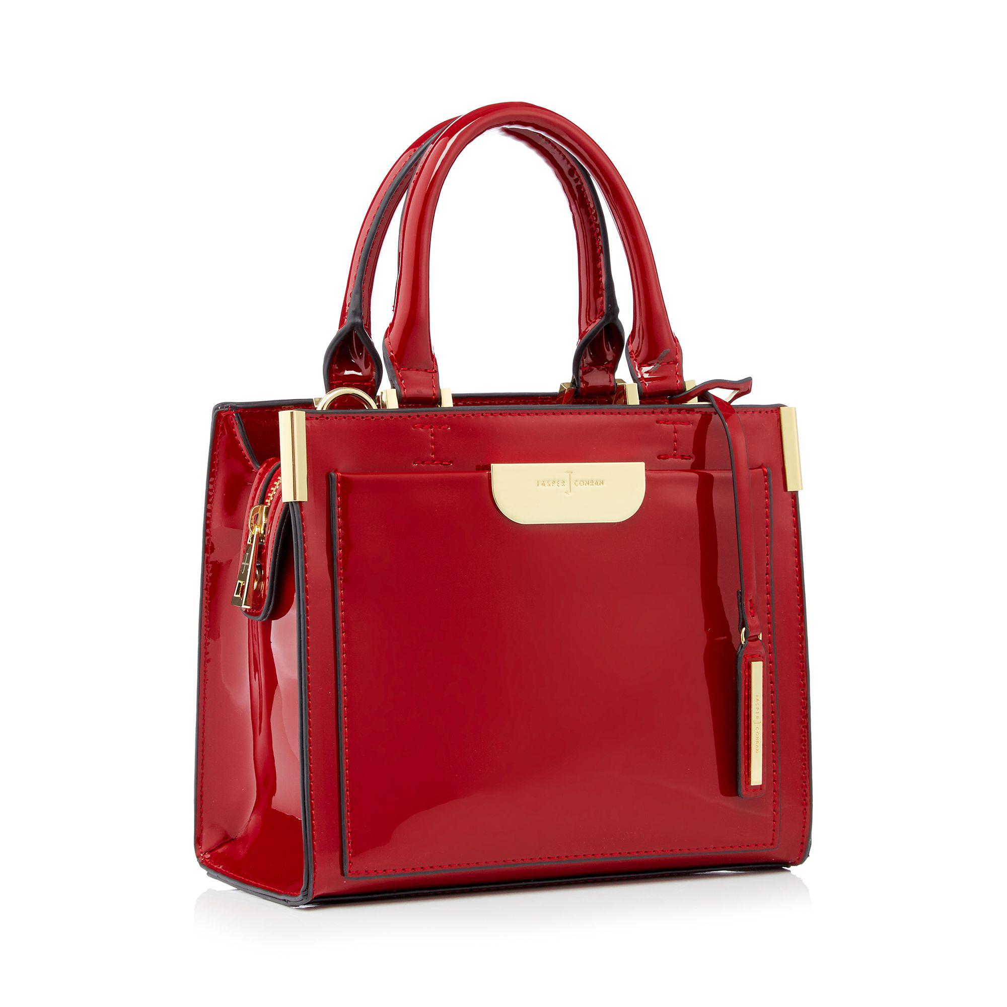 Wine Red Small Patent Barnes Grab Bag