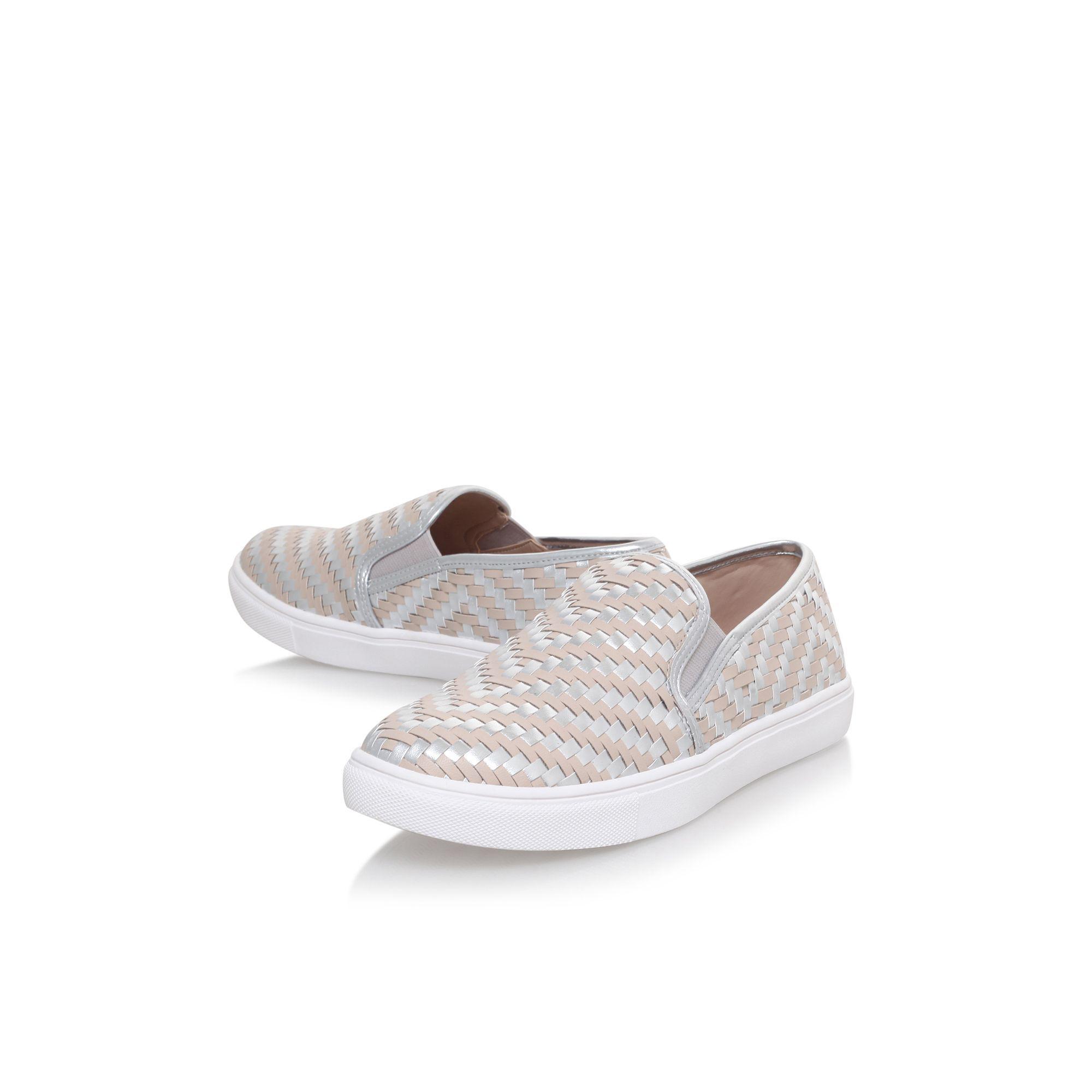 Carvela Kurt Geiger Synthetic Grey 'jinx' Flat Slip On Sneakers in Grey
