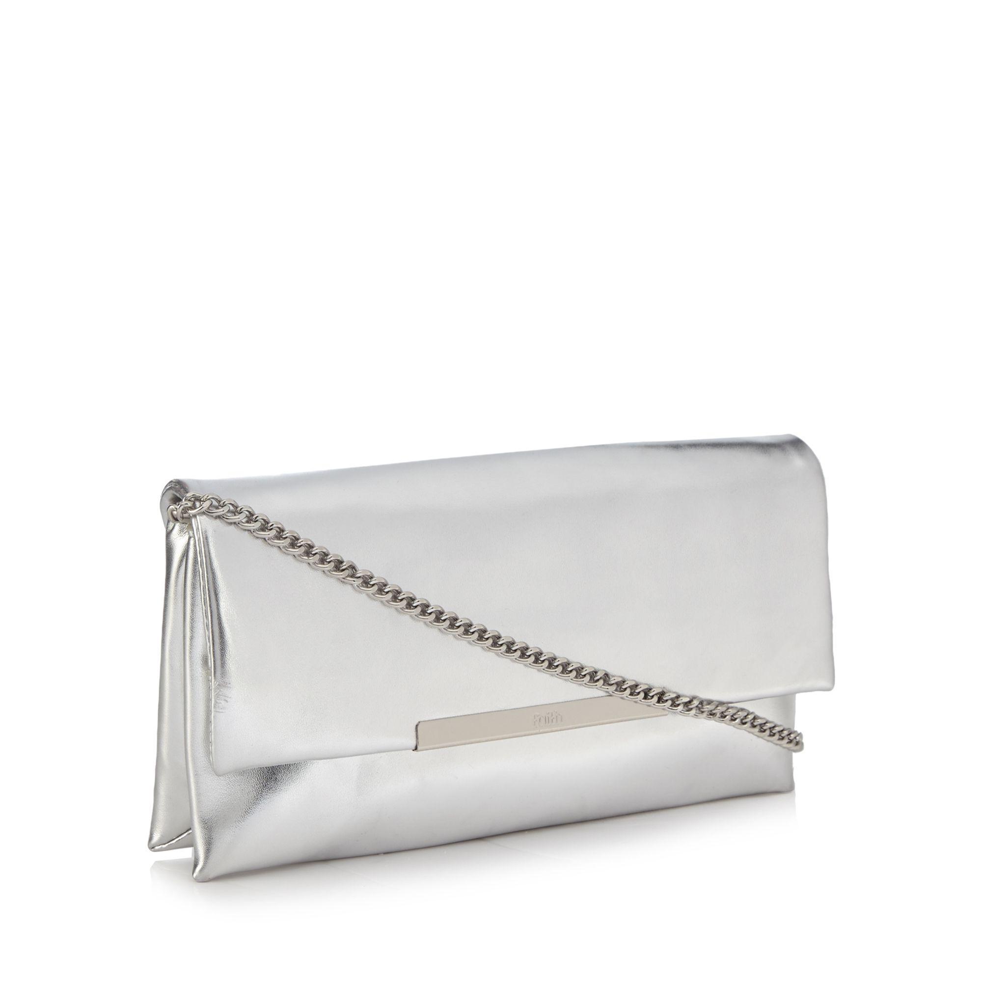3dfc0d721b Faith Silver  pip  Clutch Bag in Metallic - Lyst