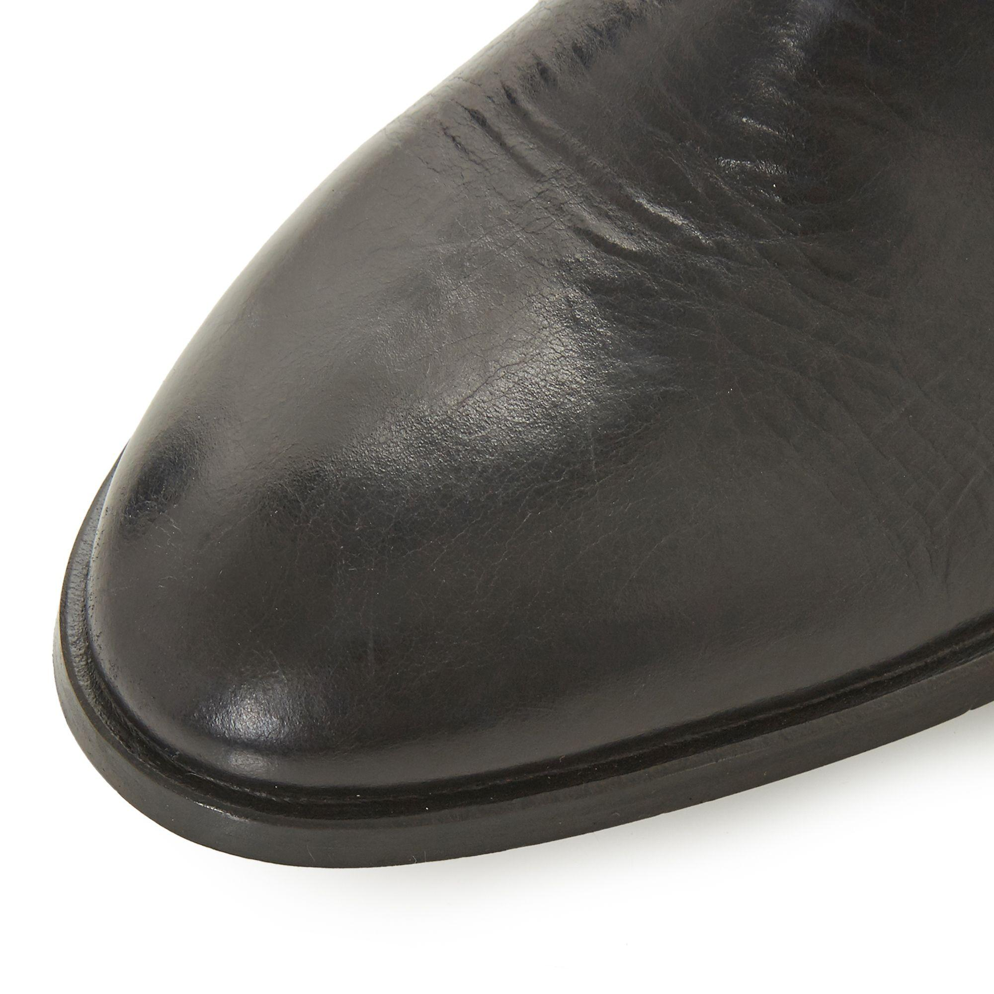 Dune Leather 'payeton' Chelsea Boots in Black