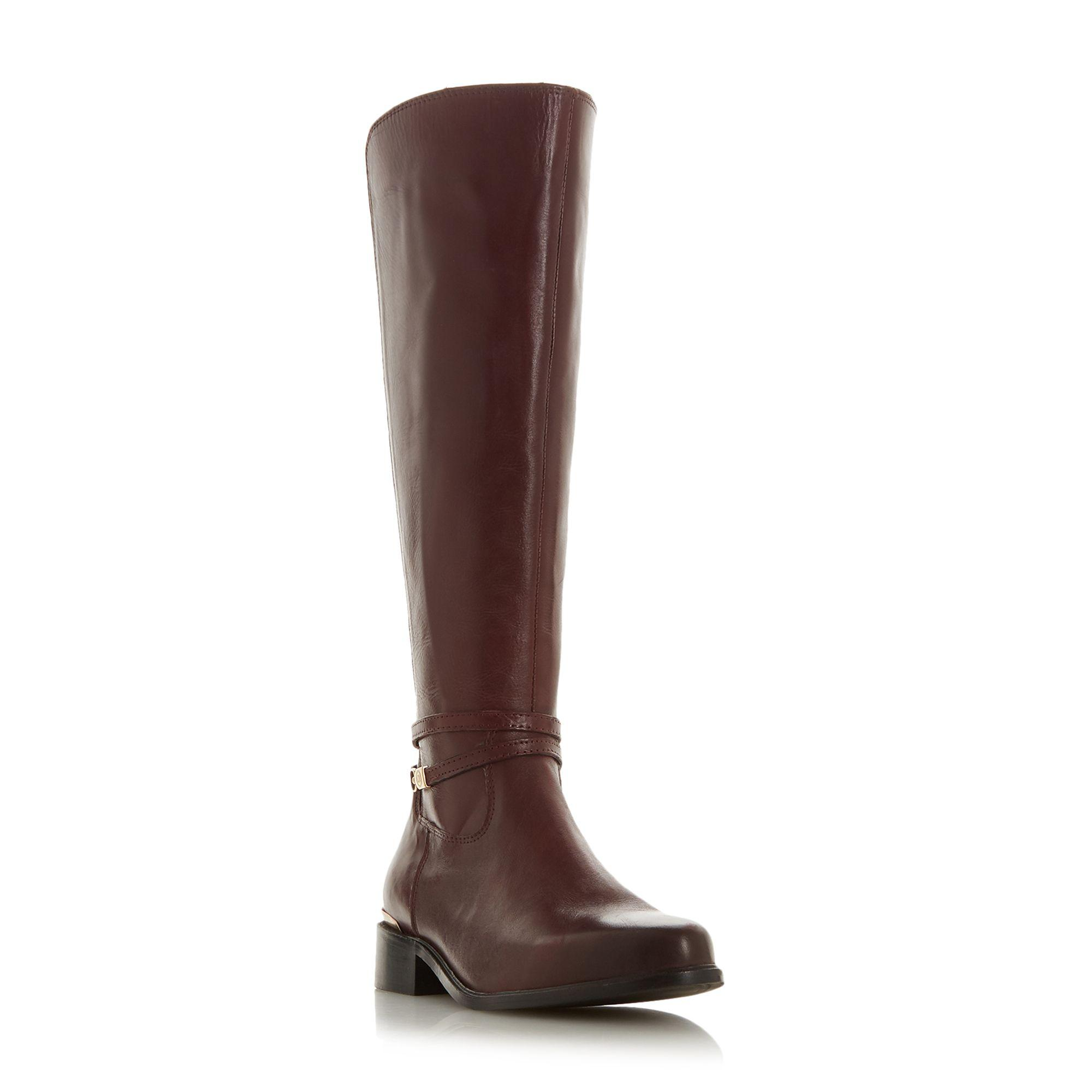 d9fc4d318abb Dune Maroon Leather  traviss  Knee High Boots in Brown - Lyst