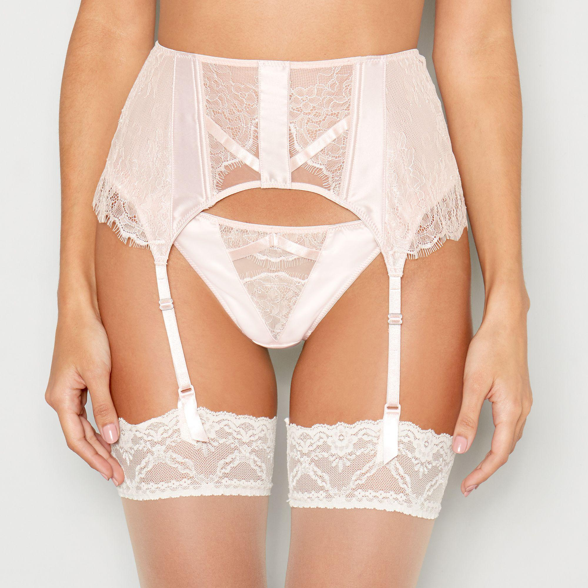Ann Summers Pale Pink Lace  nala  Waspie in Pink - Lyst fd3287044
