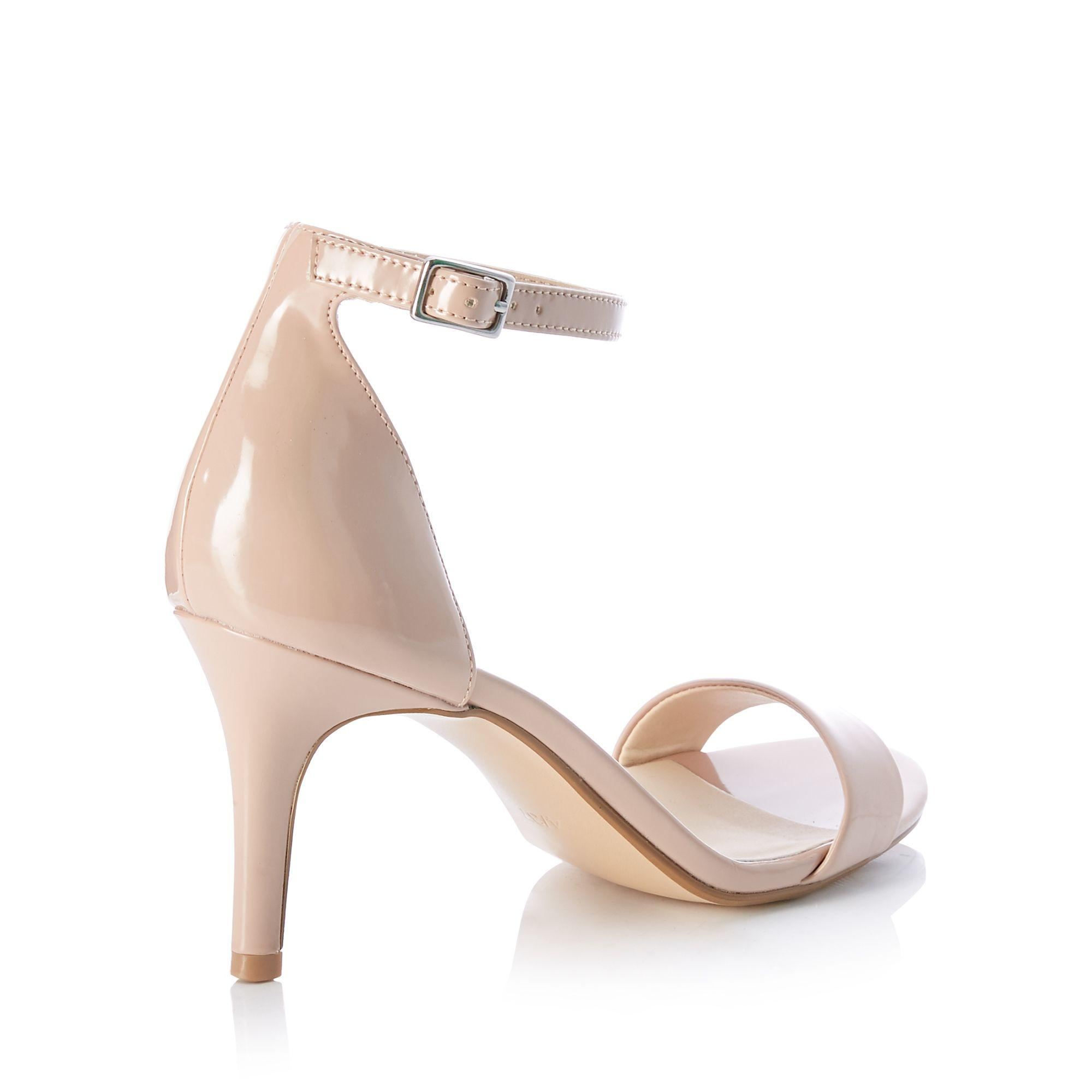 263bf150ba5 Début Pale Pink Patent 'daisy' Mid Stiletto Heel Sandals - Save 26 ...