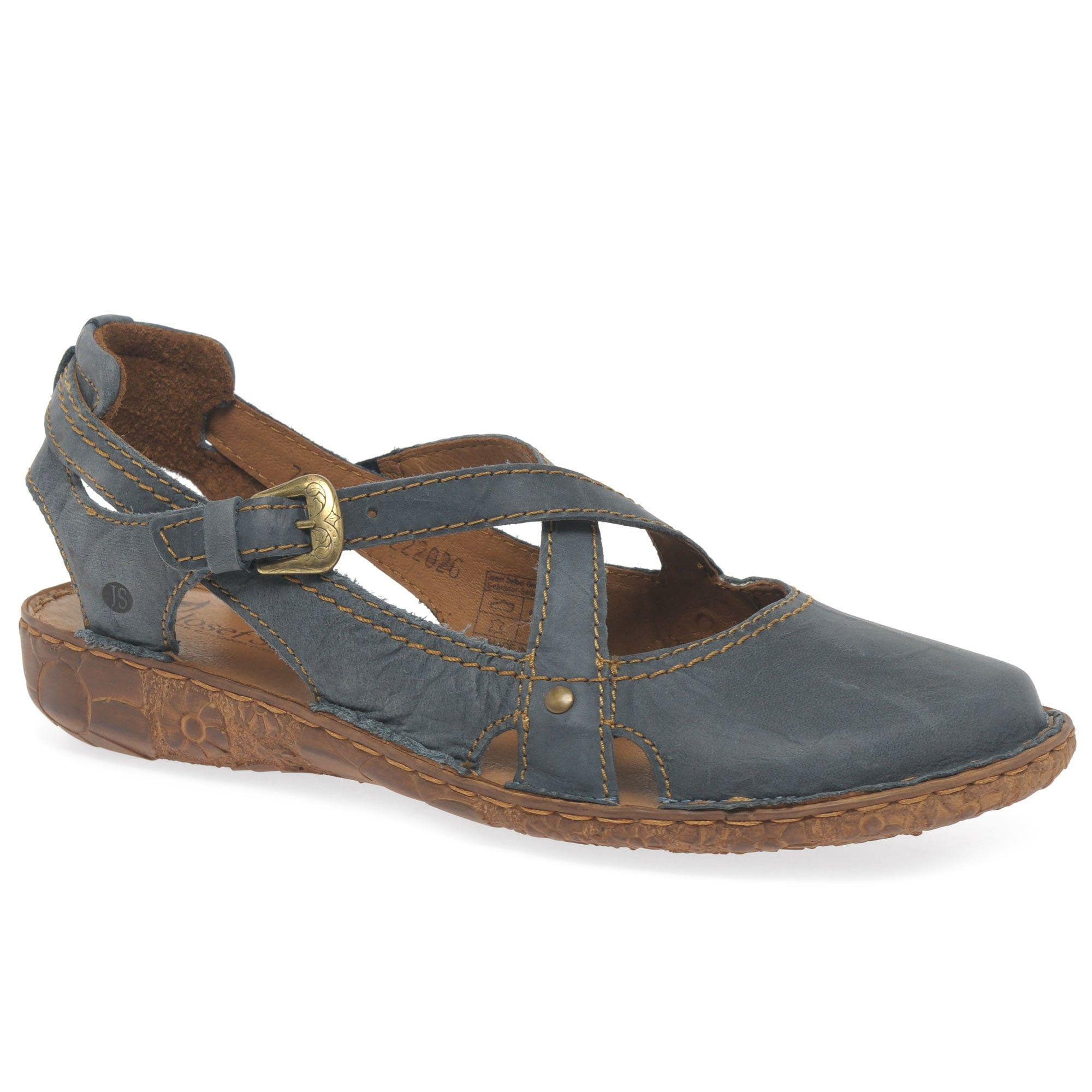 looking for cheap price professional for sale Blue leather 'Rosalie 13' flat closed toe sandals clearance clearance lOxHcWsV