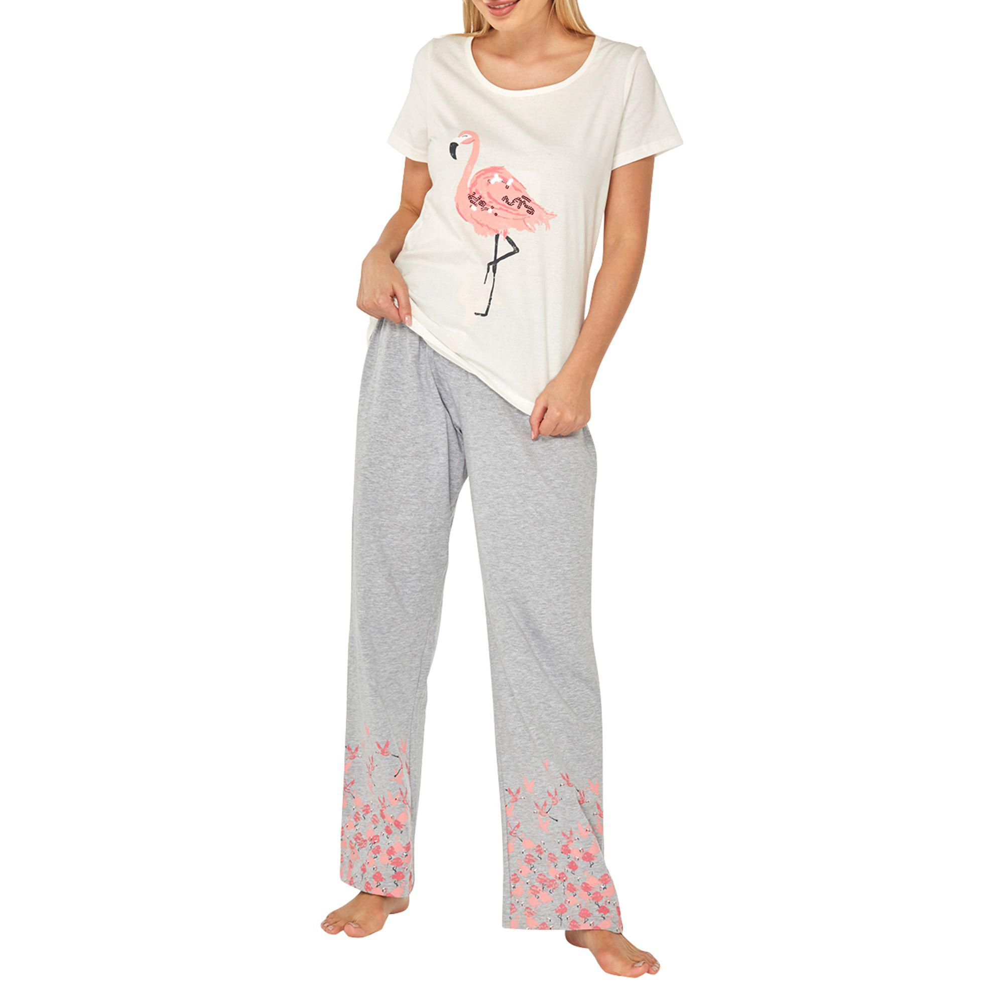 fdf520894b Dorothy Perkins Grey And Pink Flamingo Pyjama Set in Gray - Lyst